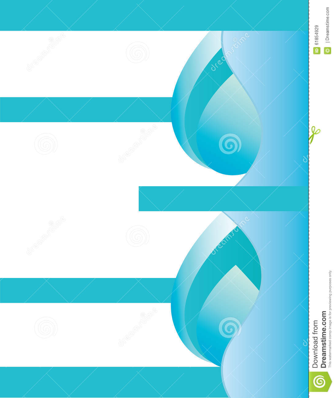 Water droplet brochure background for Water brochure template