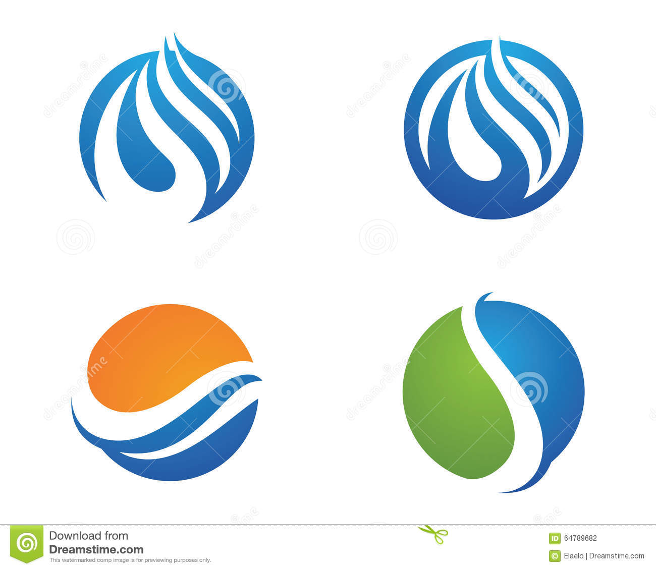 Water Droplet Logo Template Stock Vector - Image: 64789682