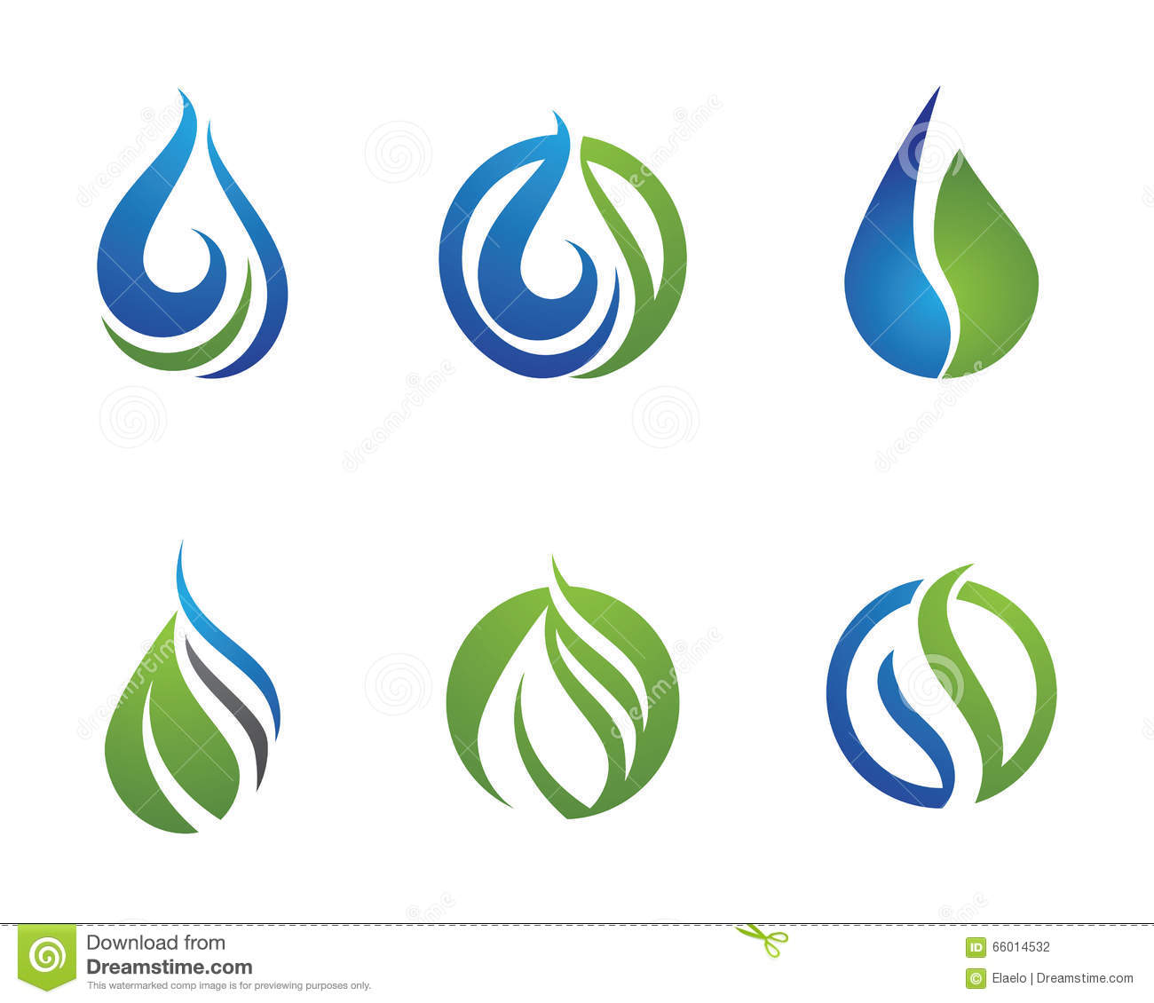 Water Droplet Logo Template Stock Vector - Image: 66014532