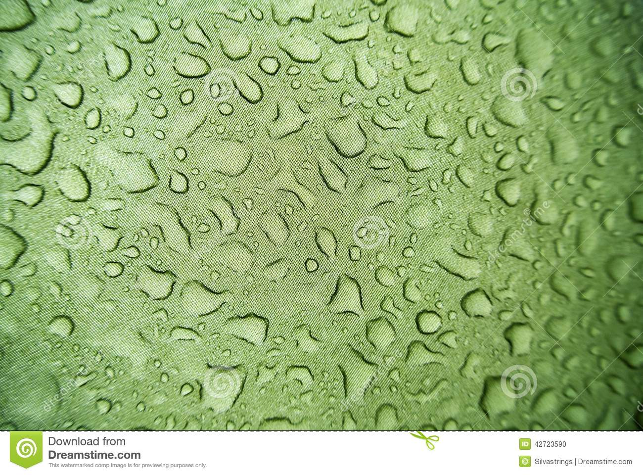 Water droplets on canvas