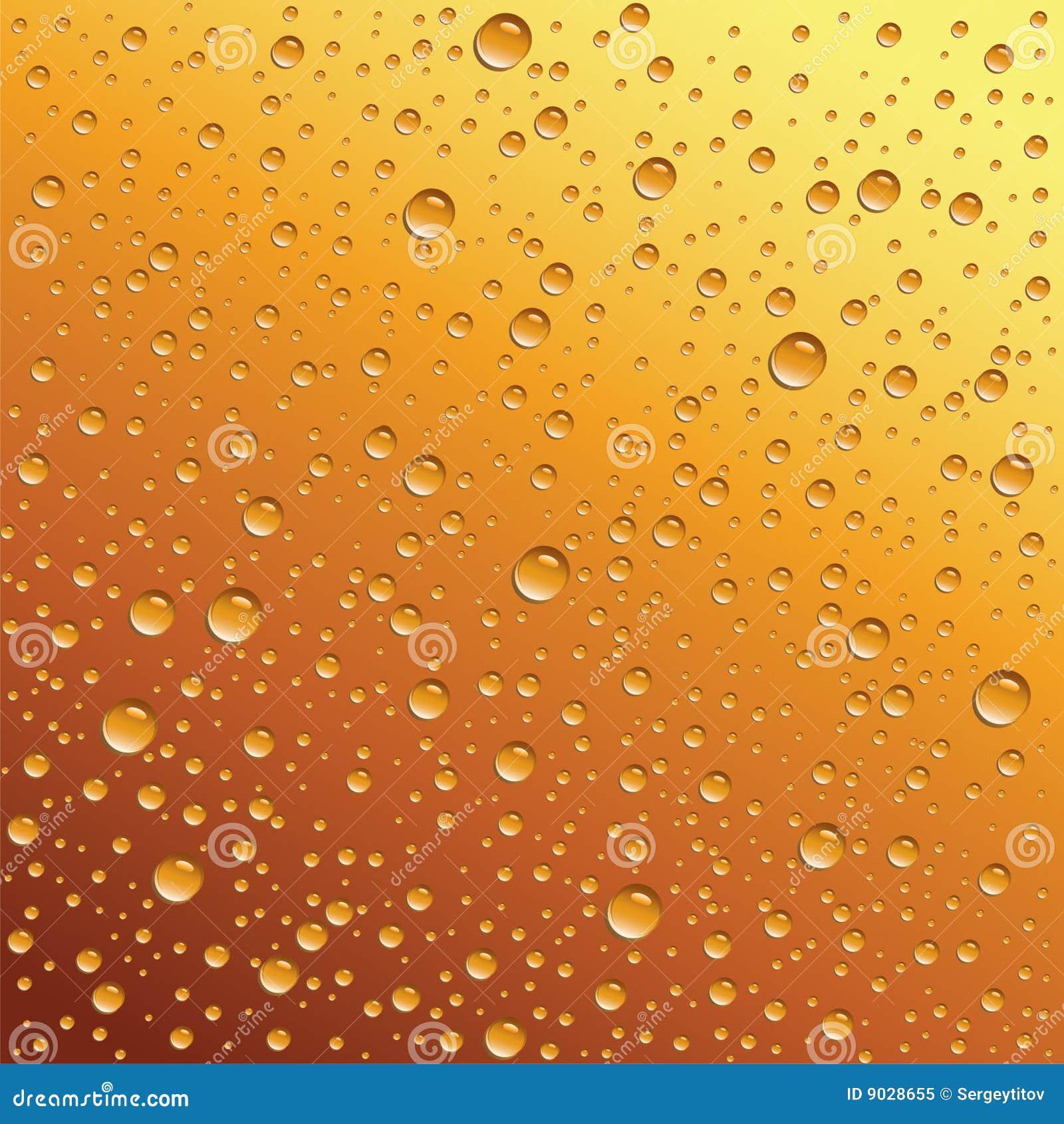 Water drops on beer