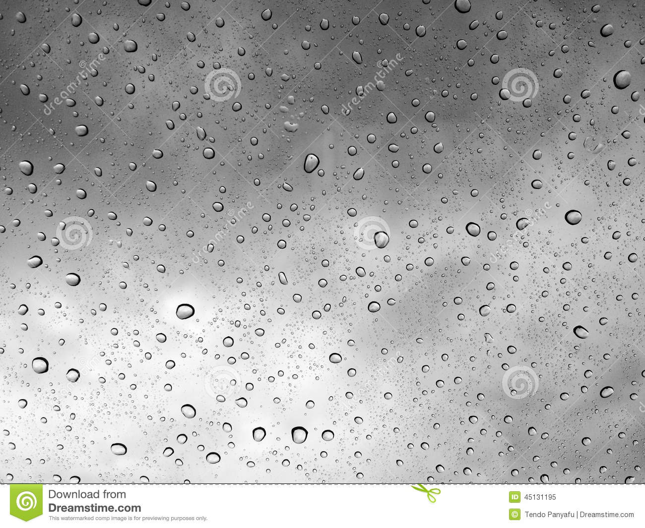 Water Drops Black And White Background Stock Photo - Image ...