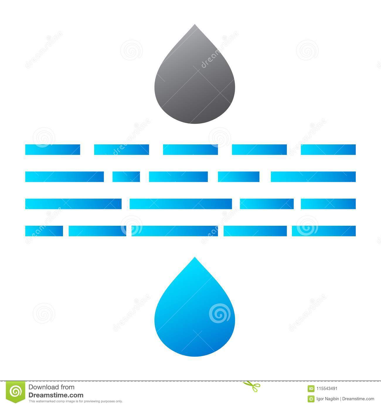 Water Drops Filtration Icon Stock Illustration Illustration Of