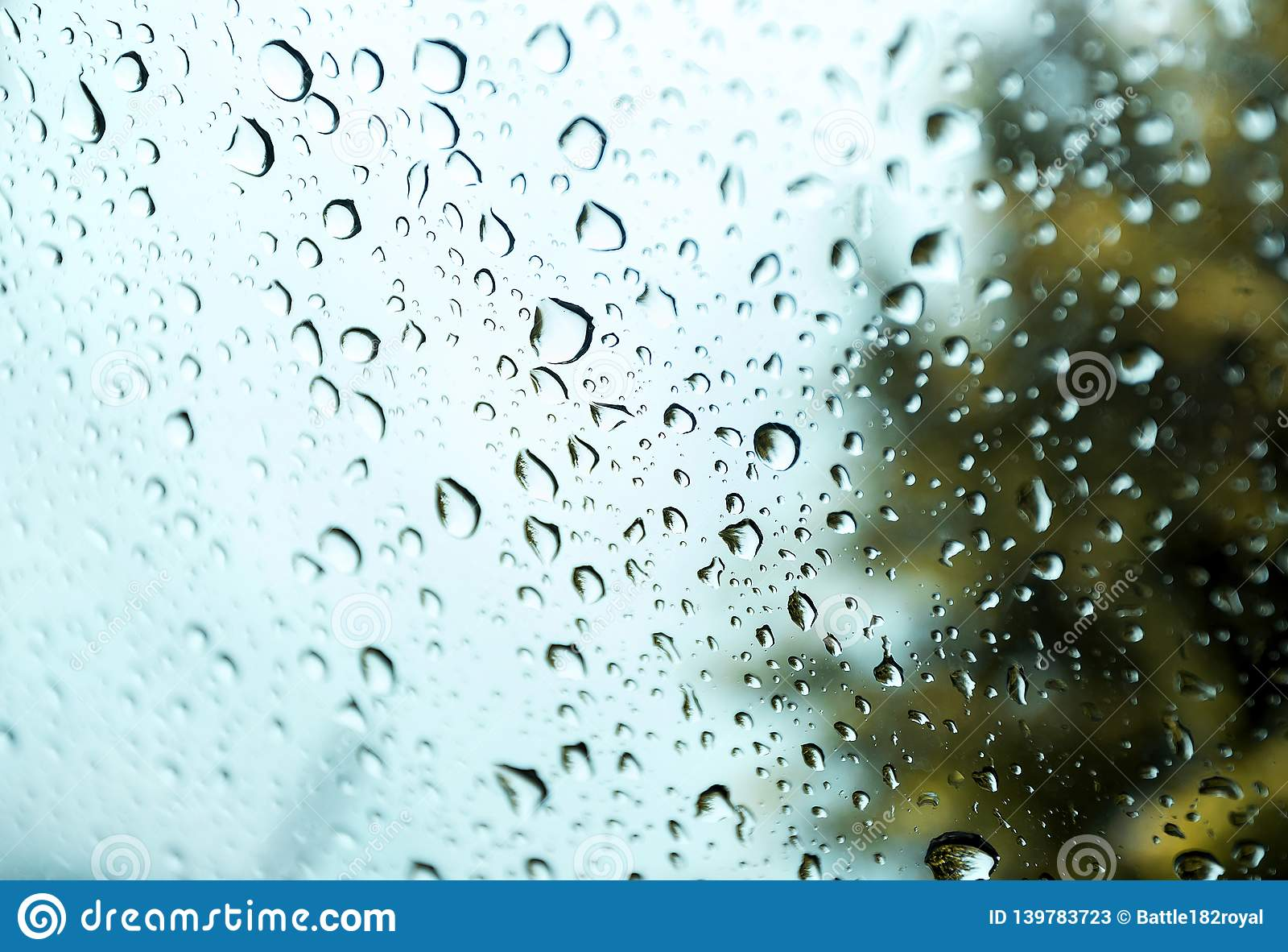 Water Drops On Glass In Beautiful Natural Rain Use For Background And Wallpapers Stock Image Image Of Glossy Pattern 139783723