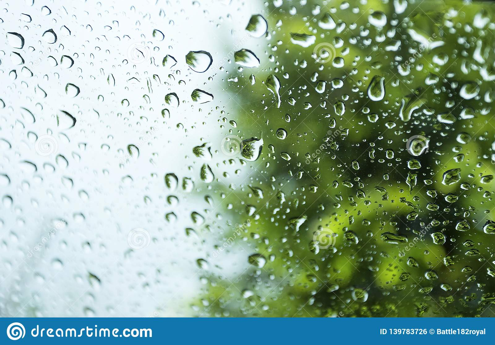 Water Drops On Glass In Beautiful Natural Rain Use For Background And Wallpapers Stock Photo Image Of Pure Moisture 139783726