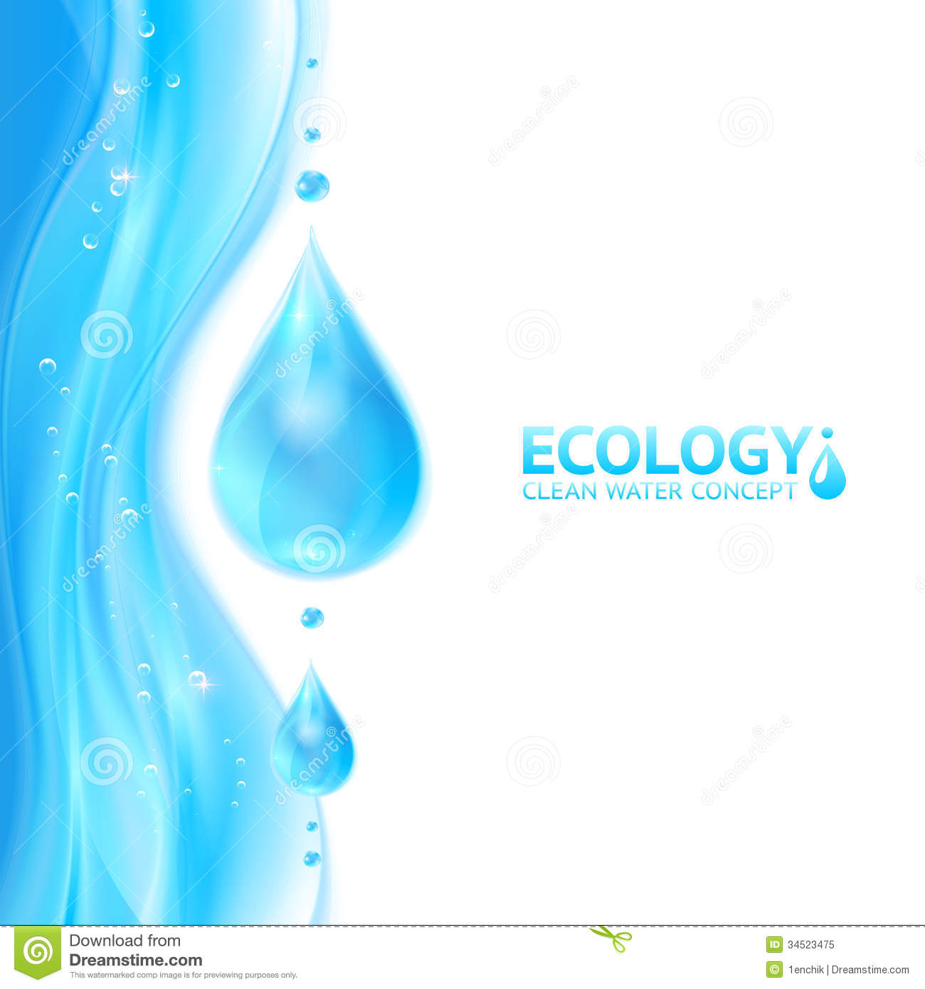 Water Drops Vector Ecology Background Royalty Free Stock ...