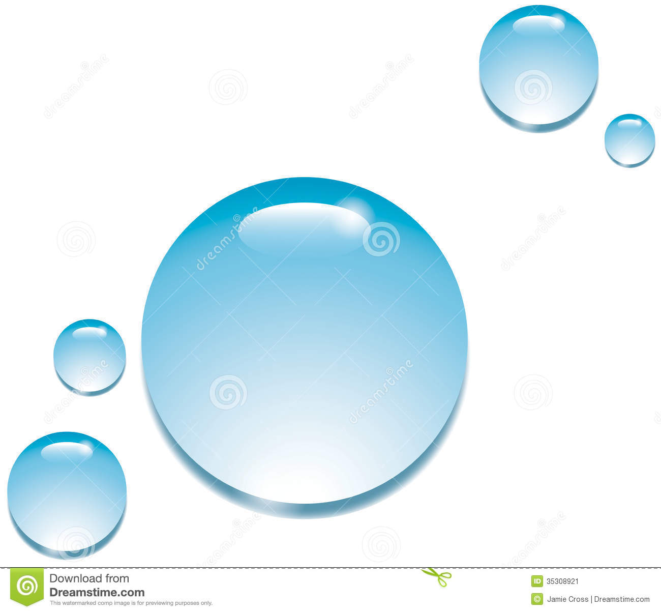Water Drops On White Stock Image - Image: 35308921