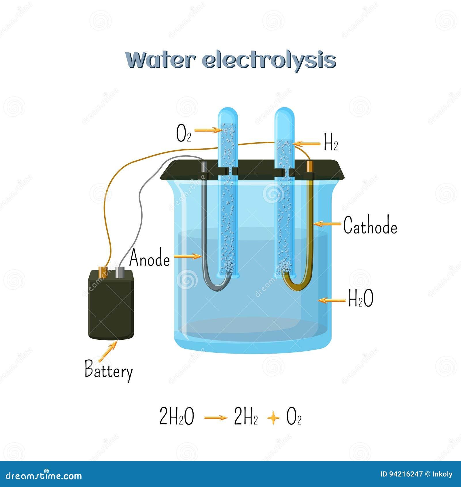 Water electrolysis diagram stock vector illustration of water electrolysis diagram pooptronica Choice Image