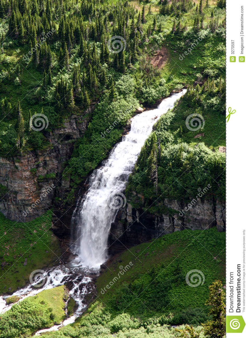 Cascading Water Fall Stock Image