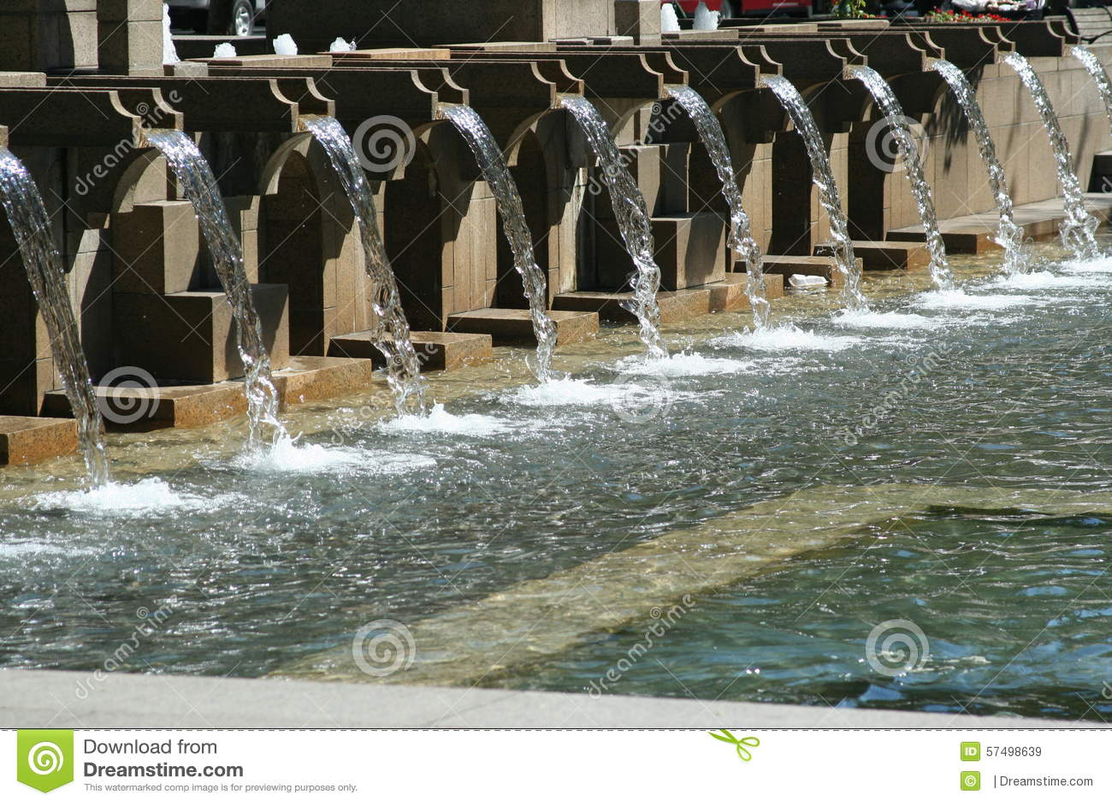 water fall fountain stock photo image 57498639