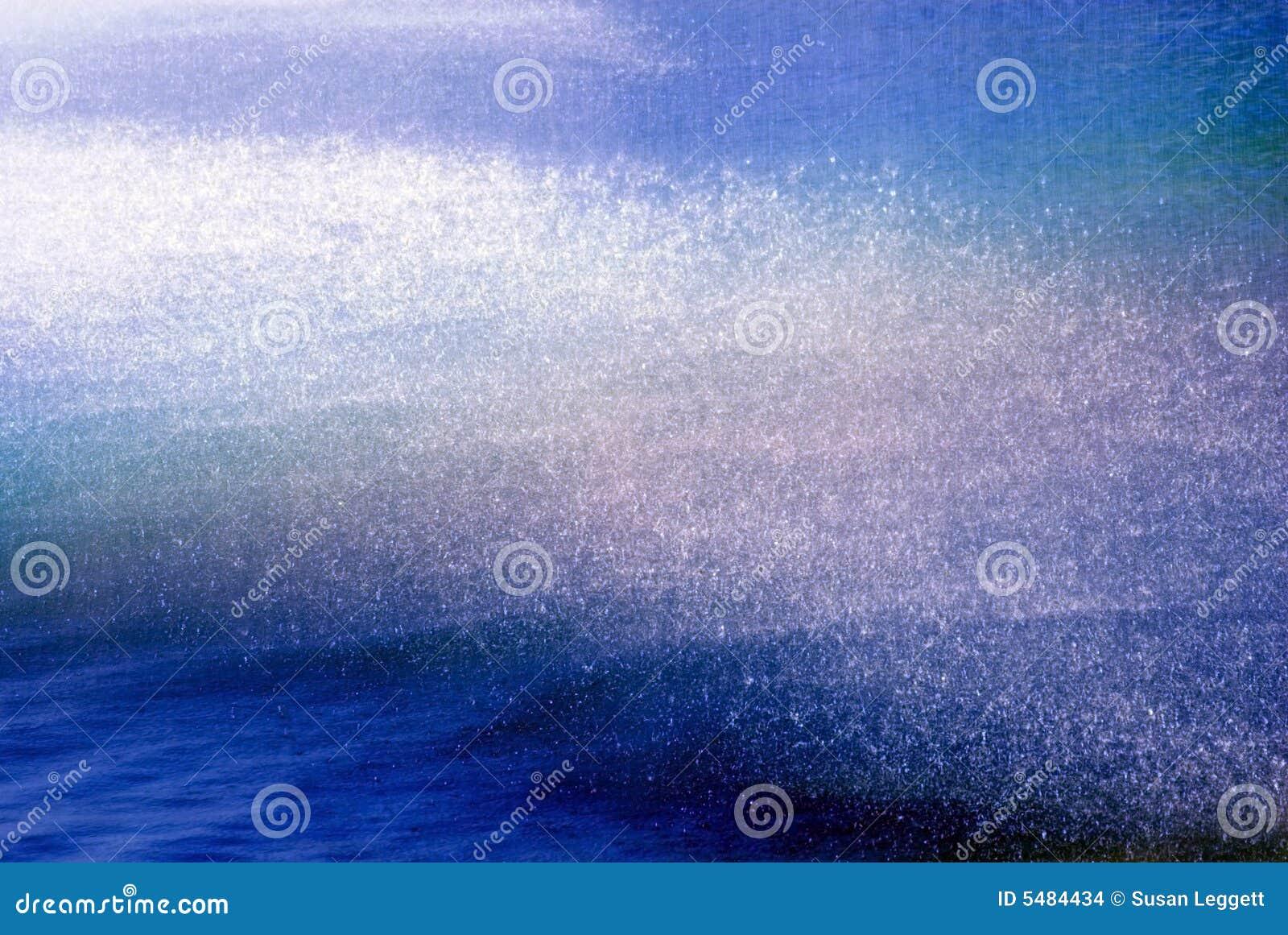 Water Falling Into Lake/Tinted