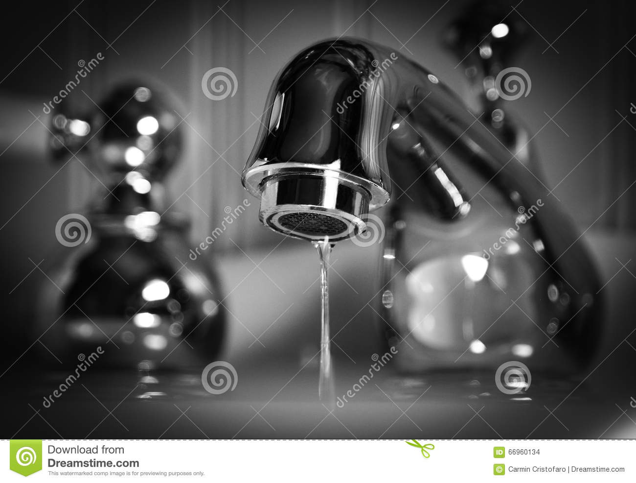 Water Faucet With Dripping Water Stock Photo - Image of leak ...