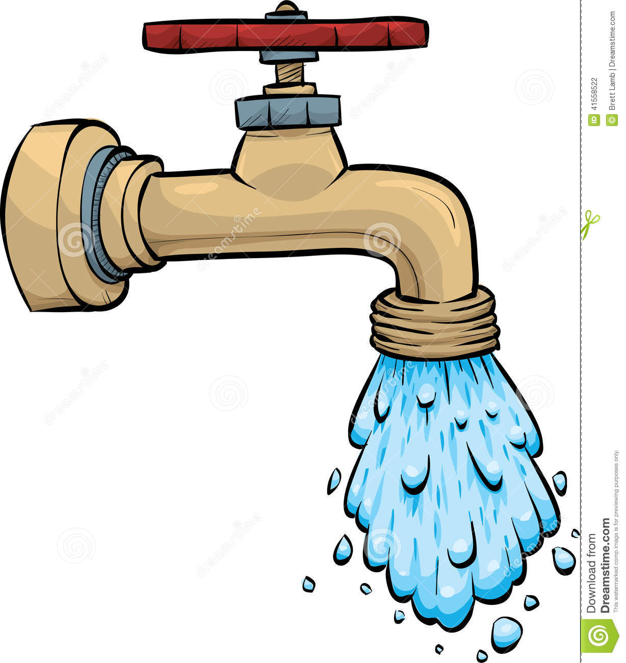 Water Faucet stock illustration. Illustration of faucet ...