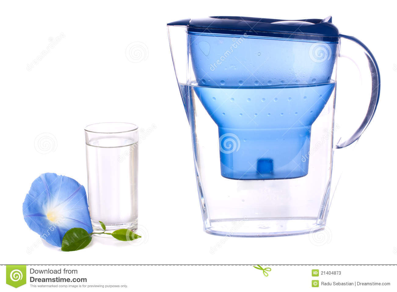 Water Filter And A Glass Stock Photos Image 21404873