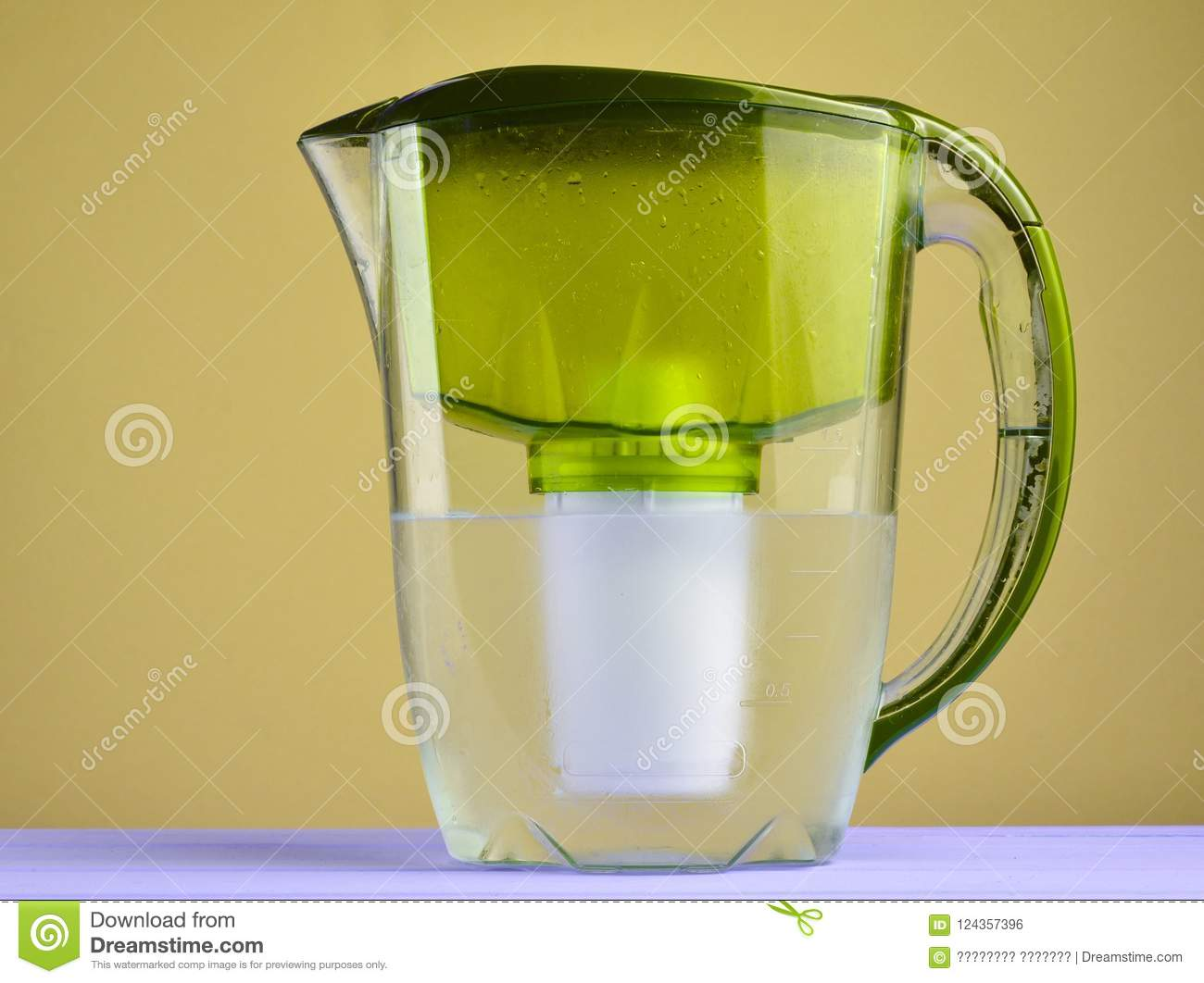 Water filter jug stock photo  Image of filtration, clear