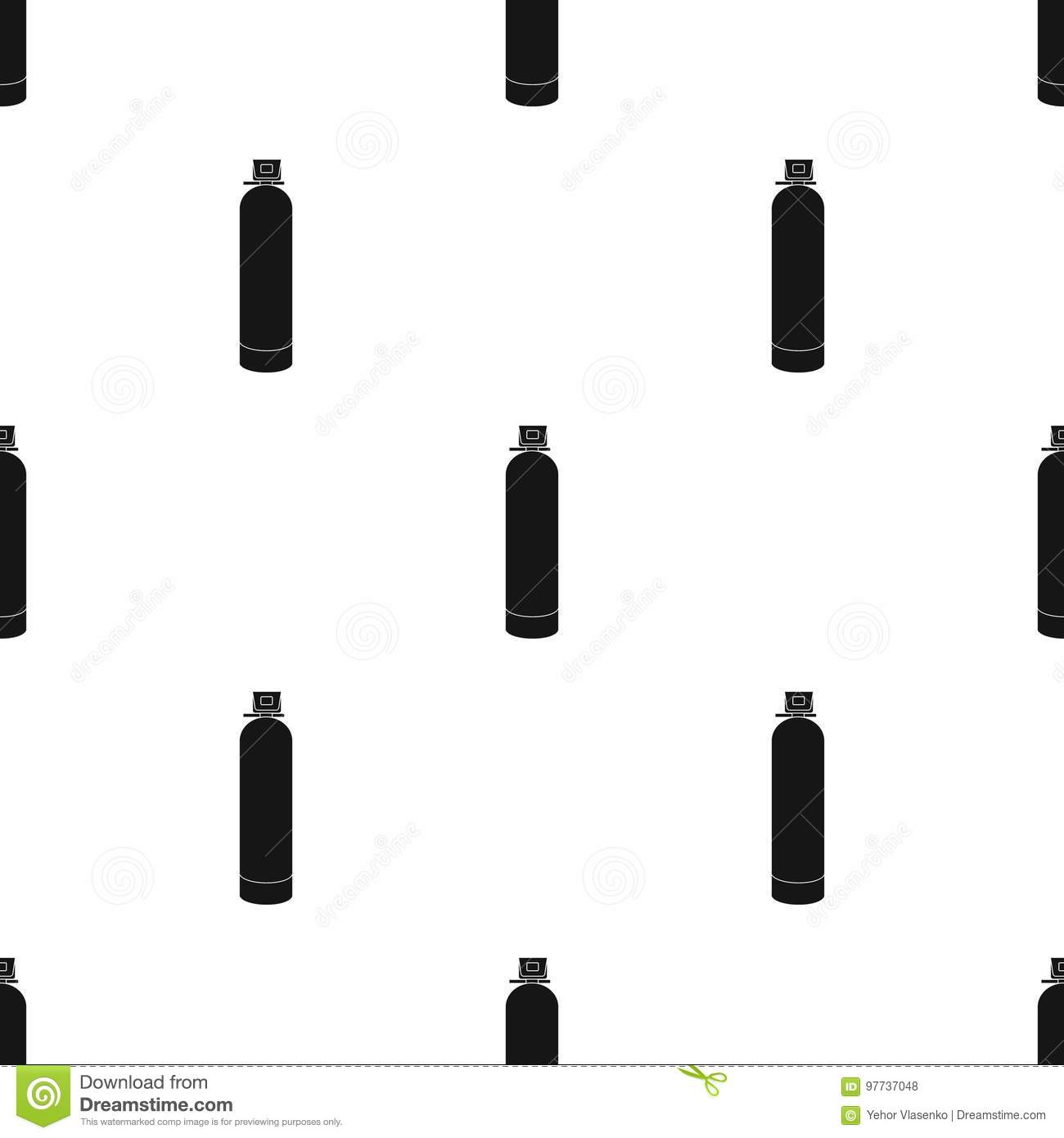 Water Filter Machine Icon In Black Style Isolated On White