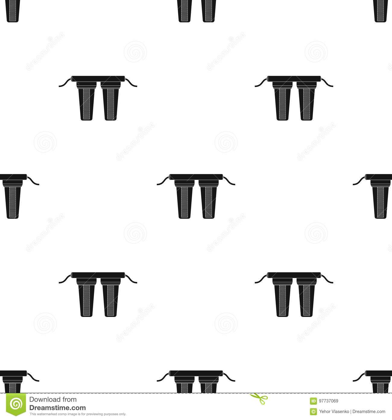 Water Filters Icon In Black Style Isolated On White Background