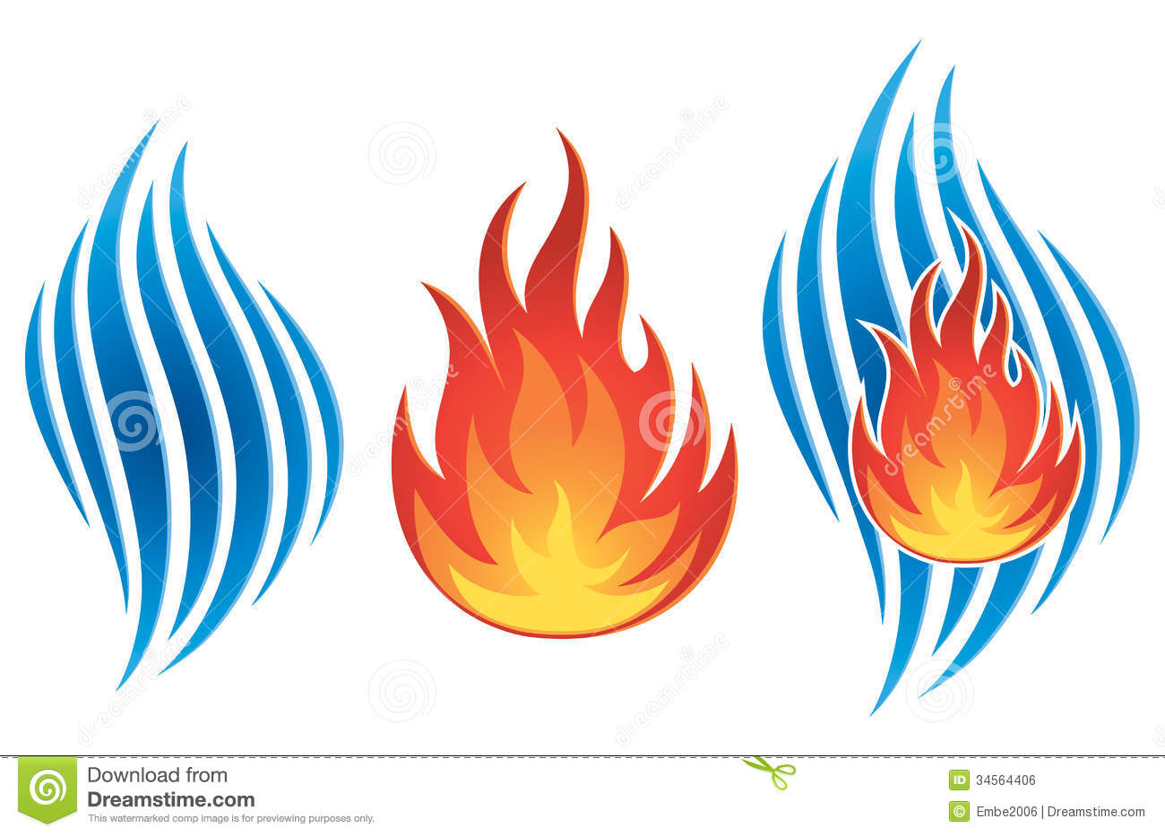 Water Fire Logo Royalty Free Stock Image - Image: 34564406