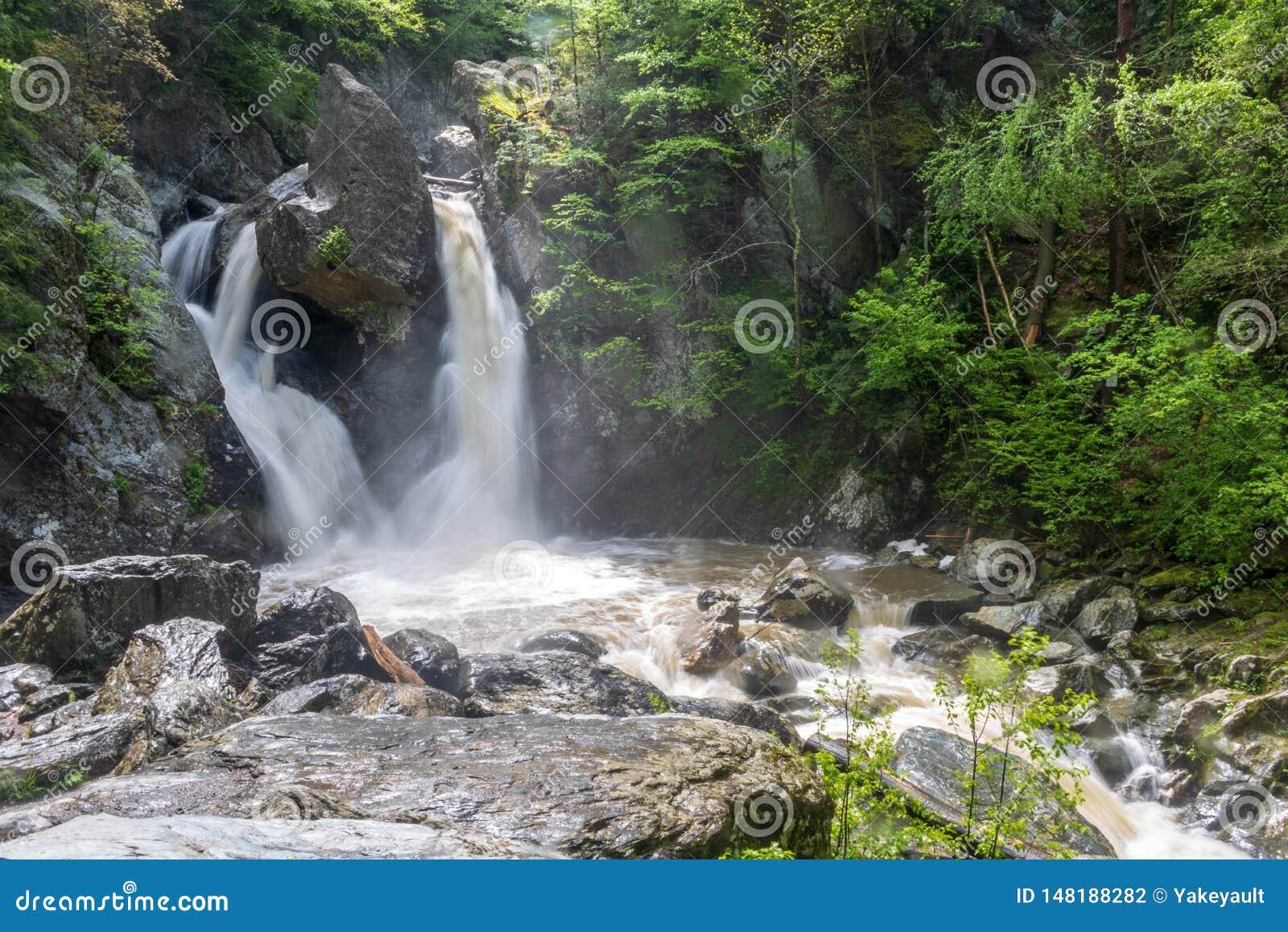 Horizontal image of Bash Bish Falls