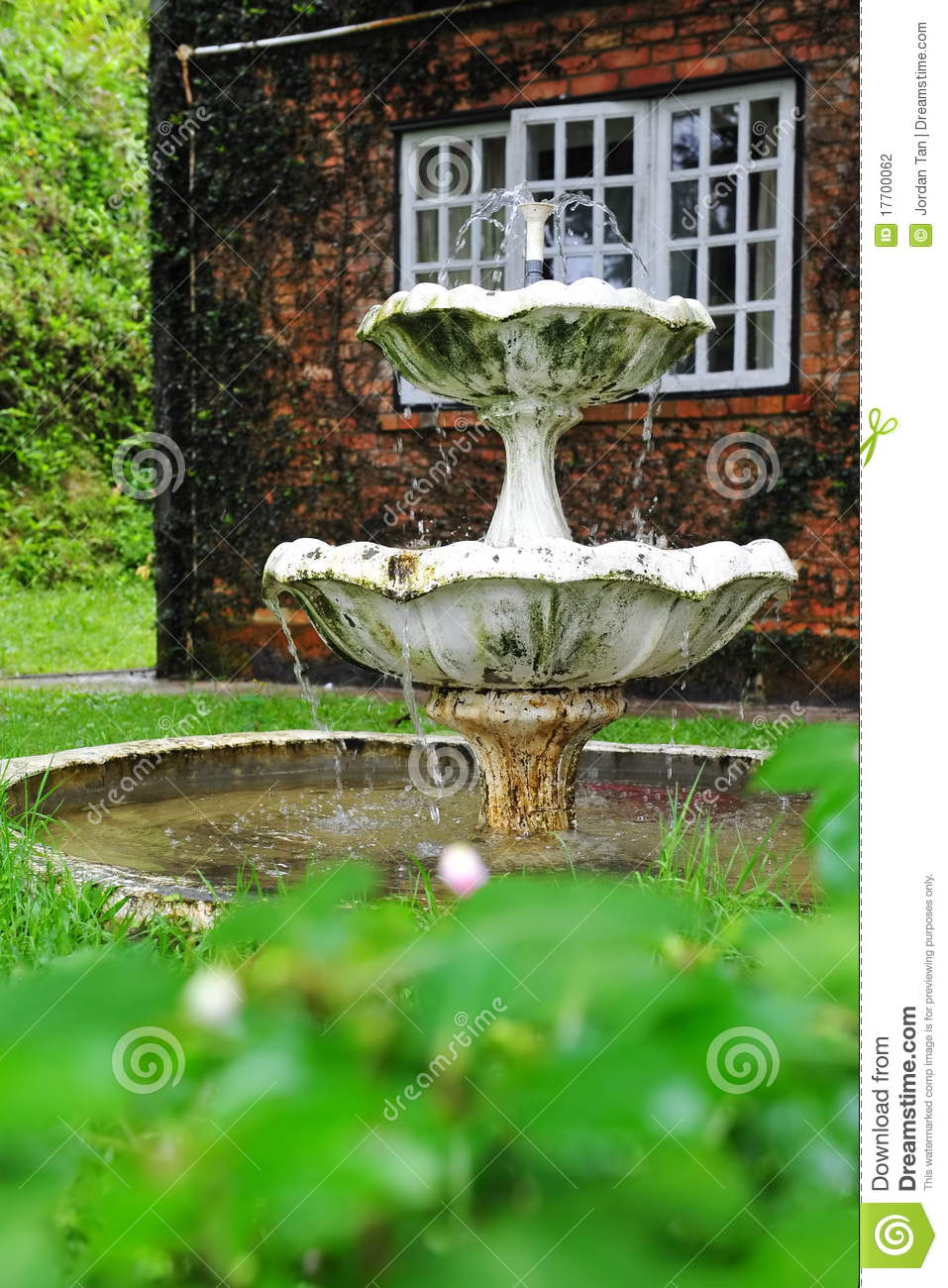 Water Fountain In A Home Garden