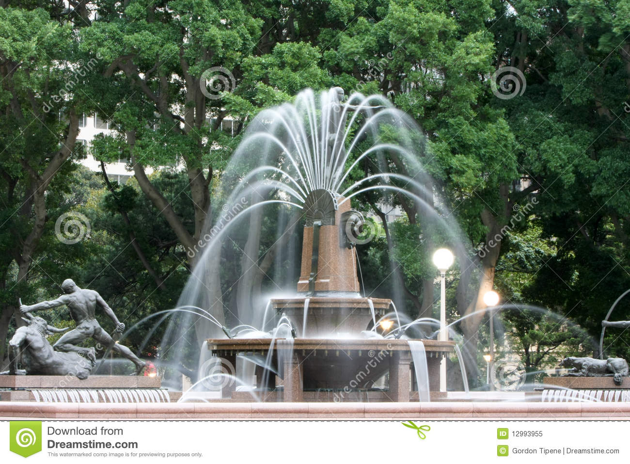 Water fountains hyde park -