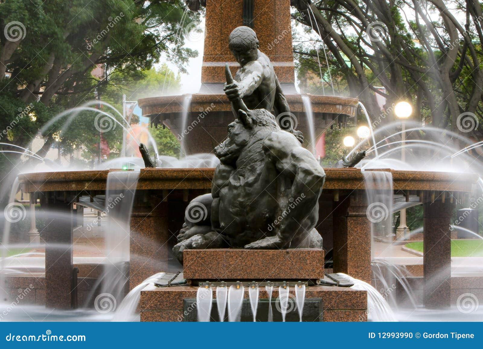 Water fountains hyde park - Water Fountain Hyde Park Sydney Australia Stock Photo