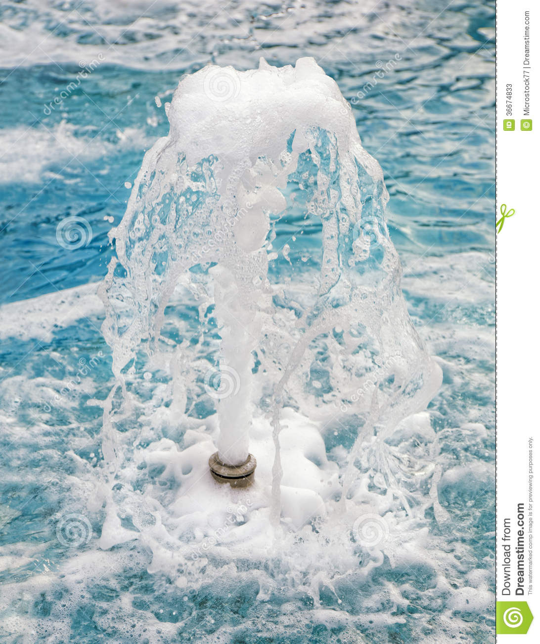 Water fountain jet stock image of jets nature