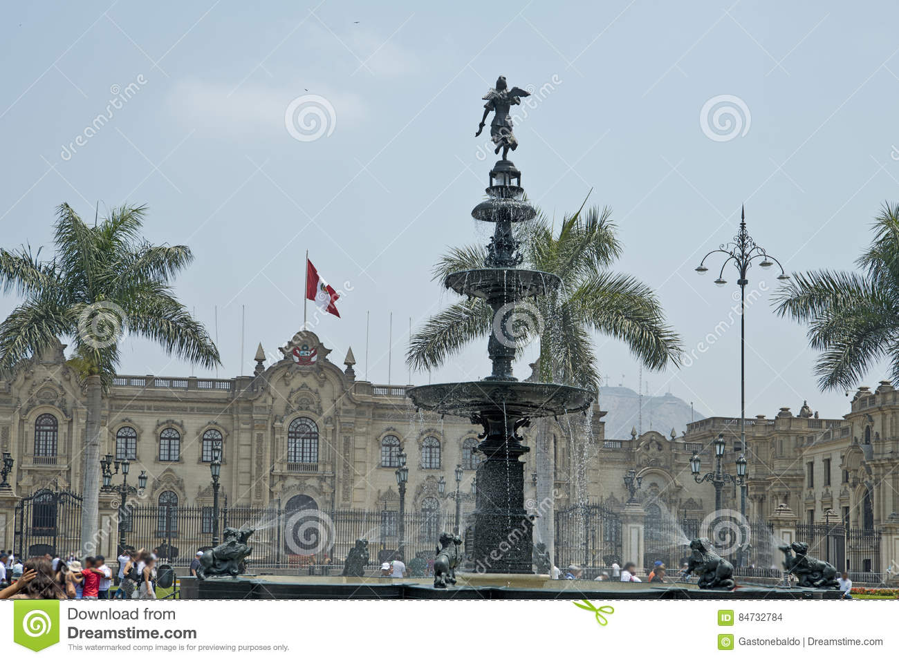 Water fountains lima - Water Fountain And Main Plaza Lima Per