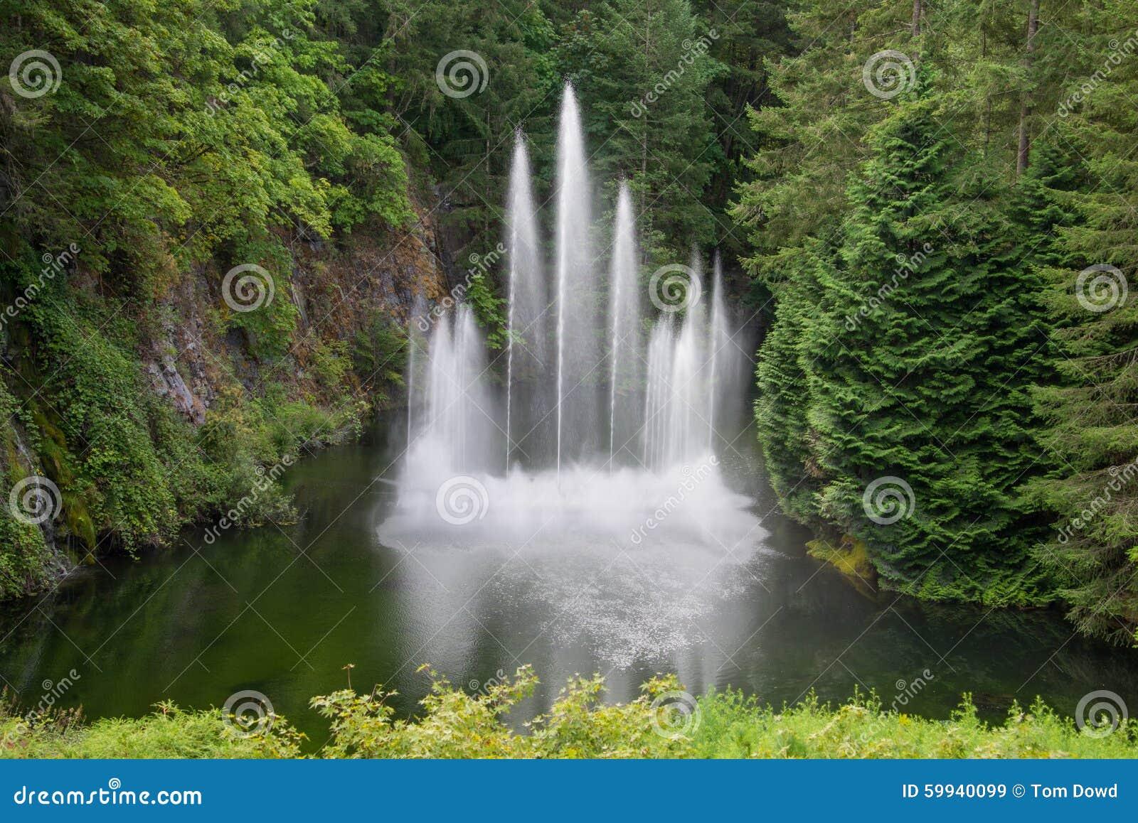 Water fountain in sunken garden butchart gardens - What time does victoria gardens close ...