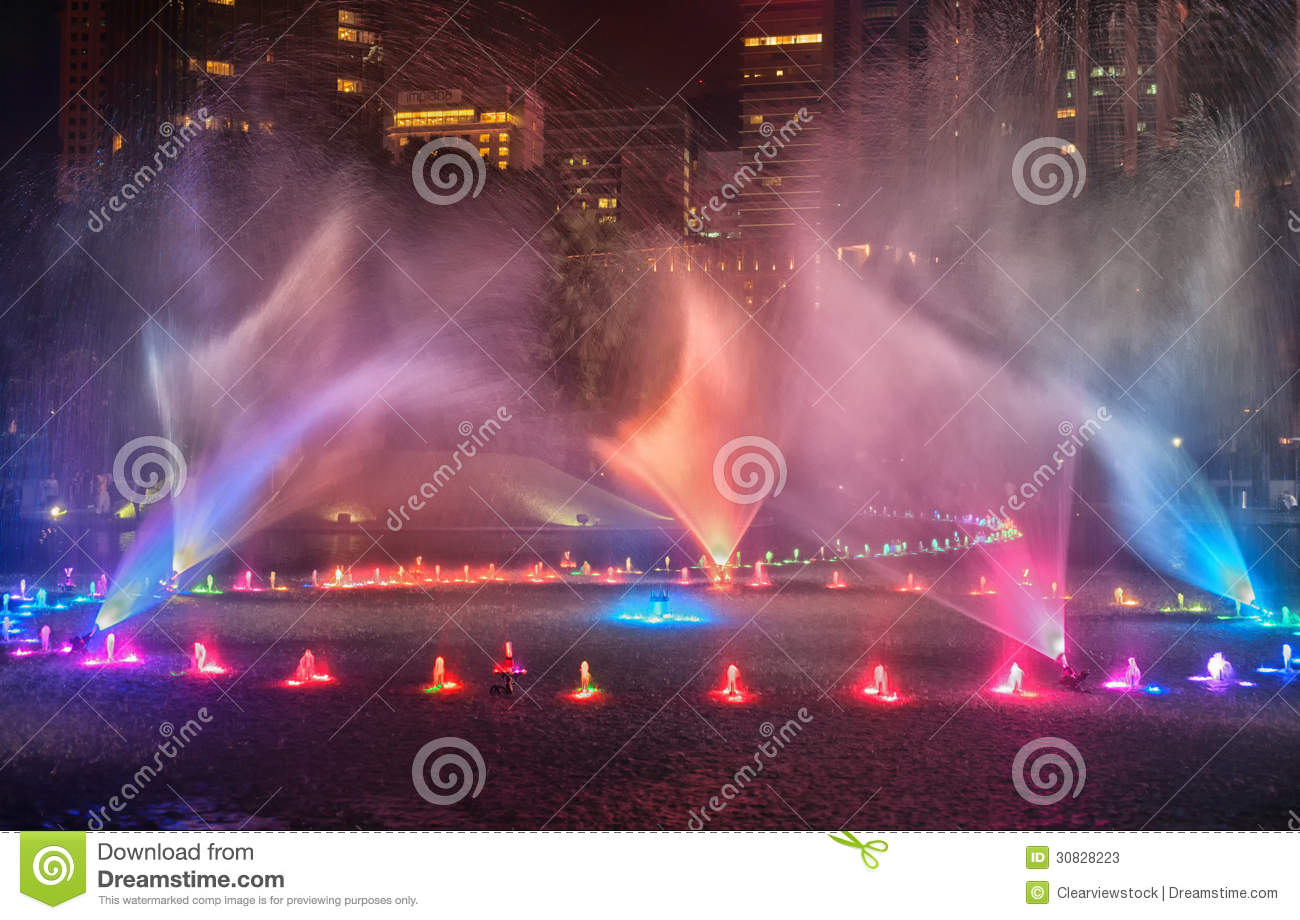 Download Water Fountains In Kuala Lumpur Stock Image - Image of spraying, vivid: 30828223