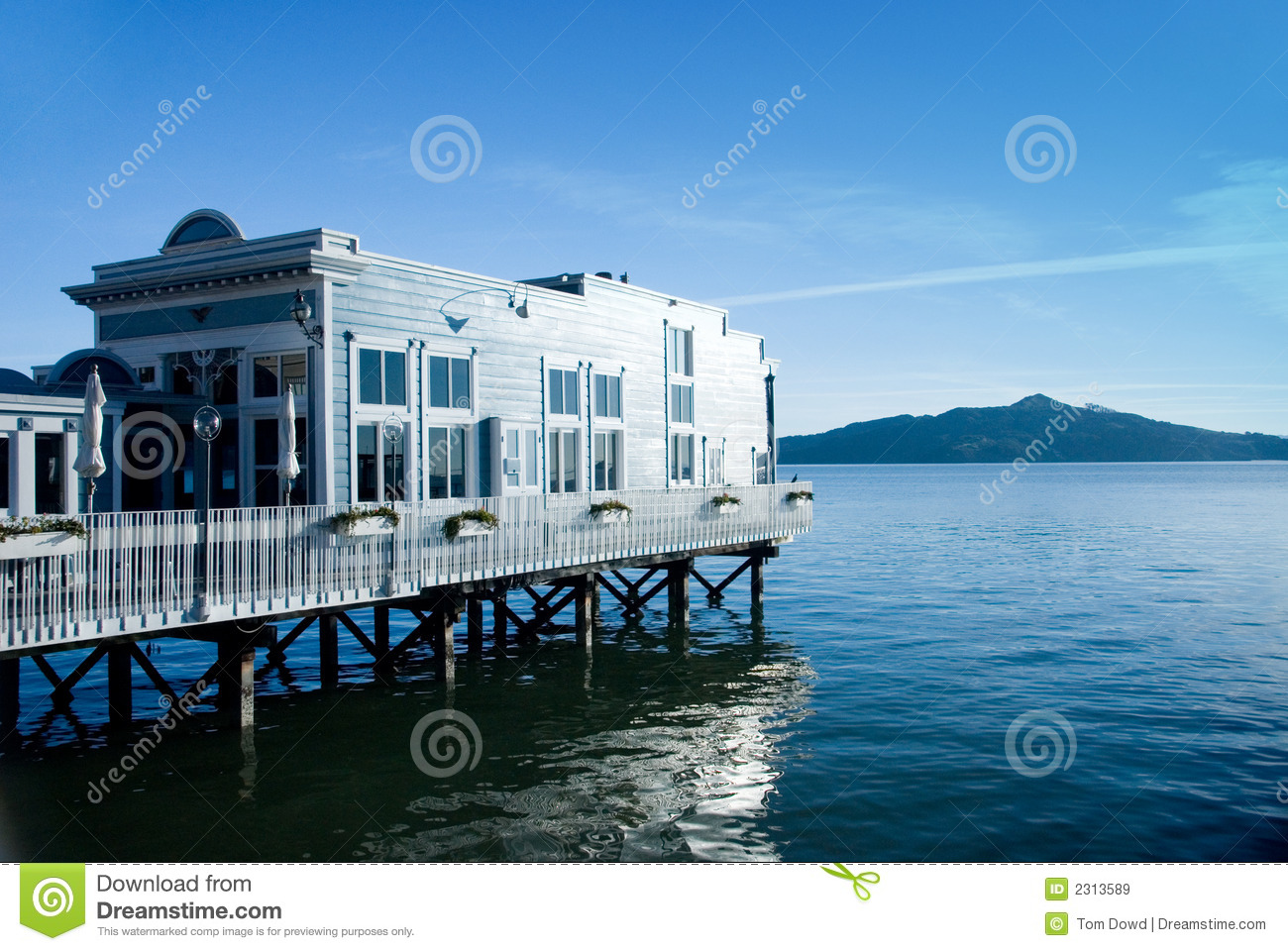 Water Front View House Restaurant Stock Image Image Of Sausalito