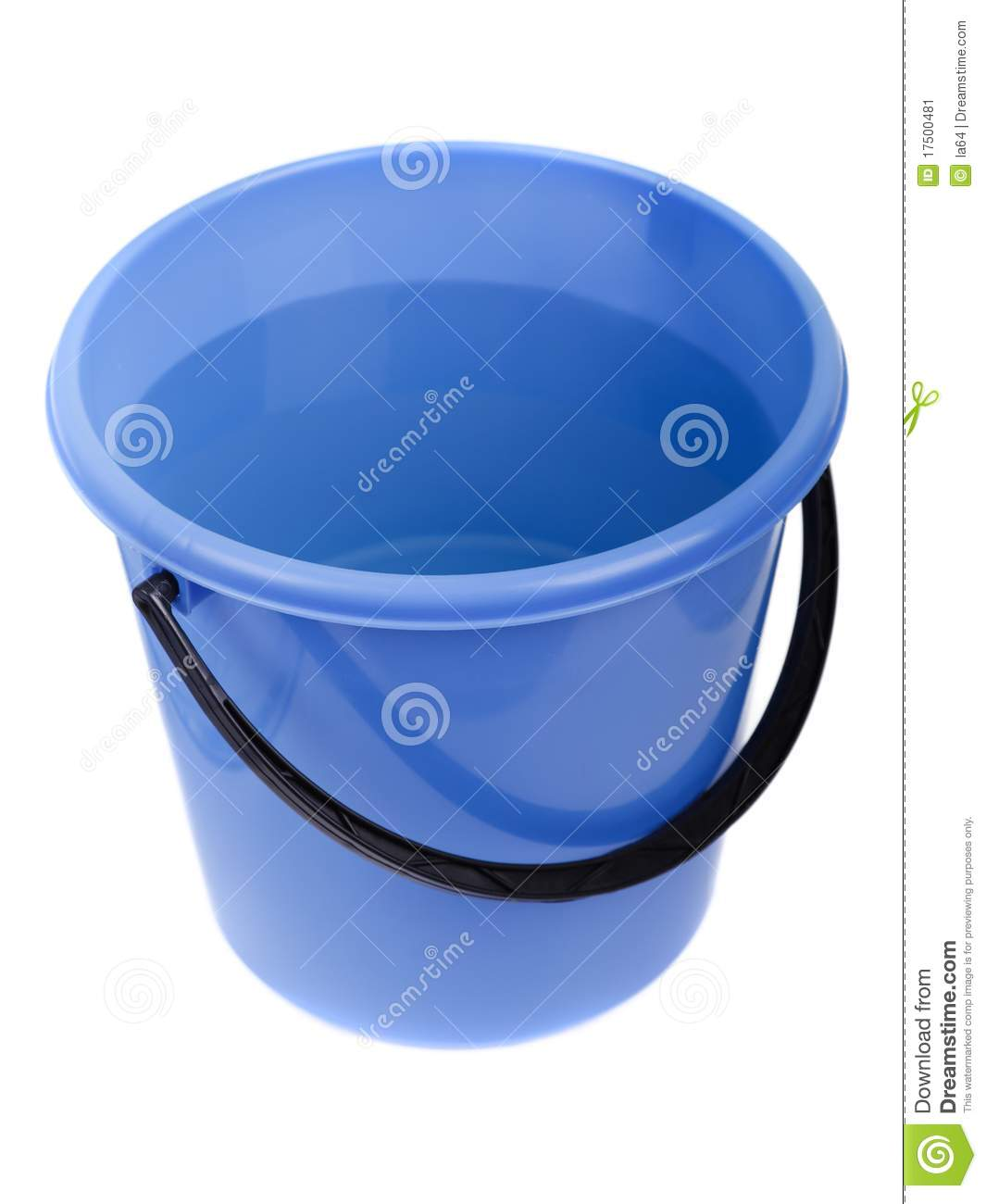 water full plastic bucket stock image image of cleaning 17500481
