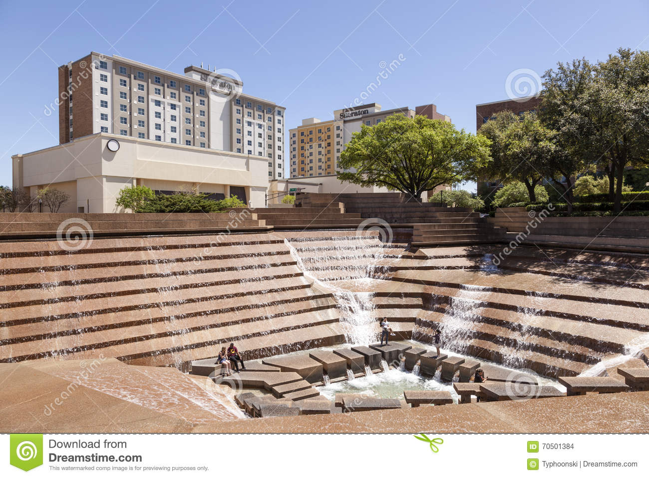 Water Gardens In Fort Worth, TX, USA