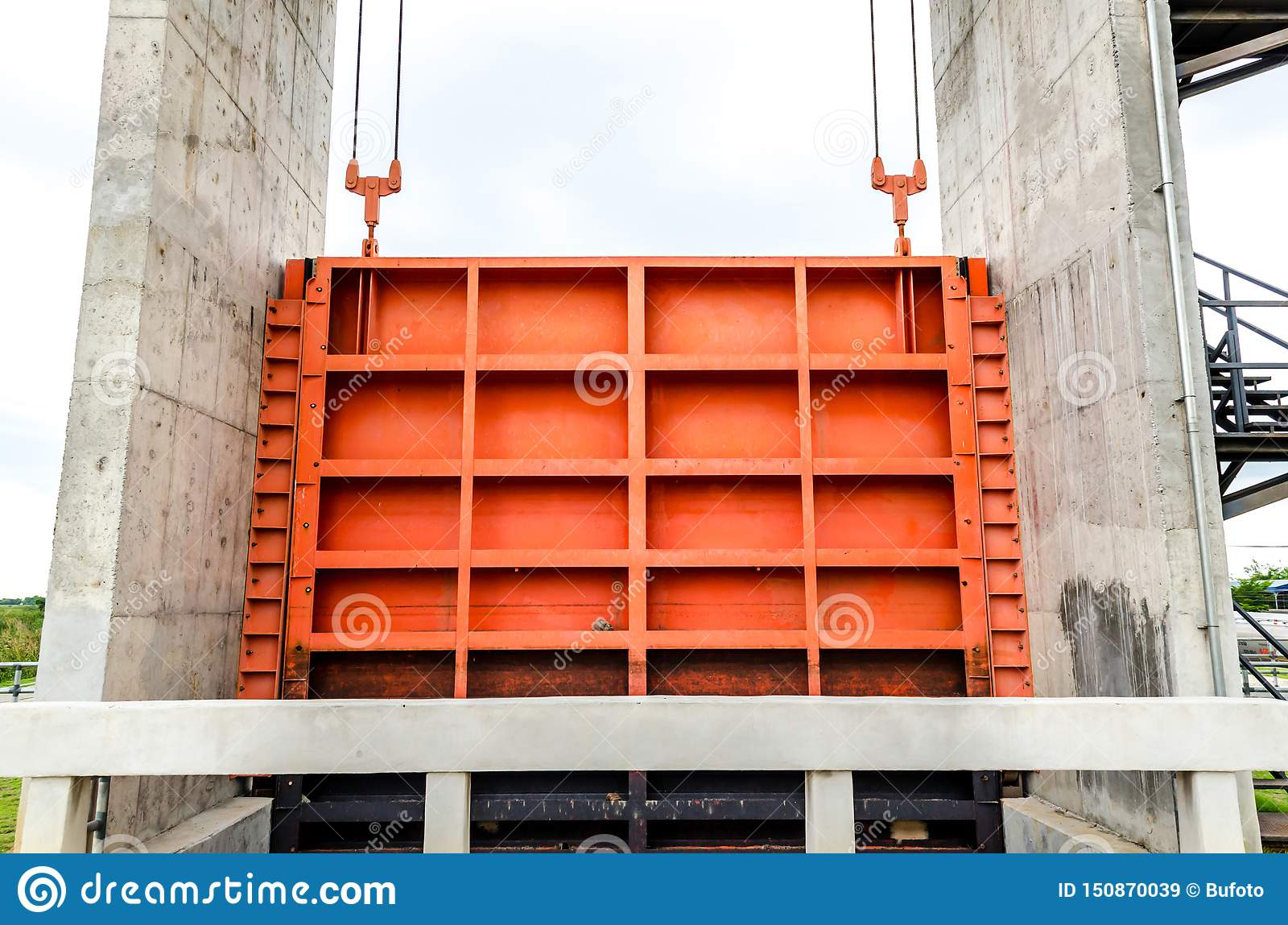 Water Gates  Sluice Gate In Irrigation System Stock Image