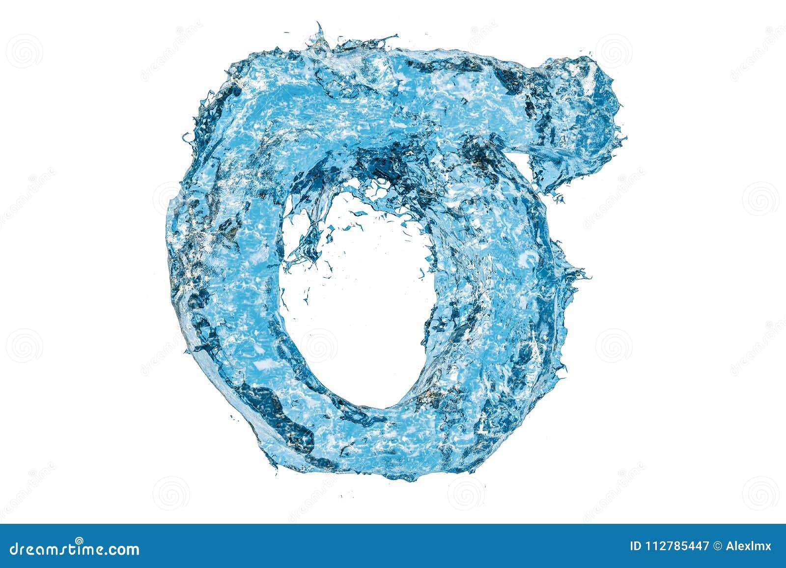 Water Greek Letter Sigma 3d Rendering Stock Illustration