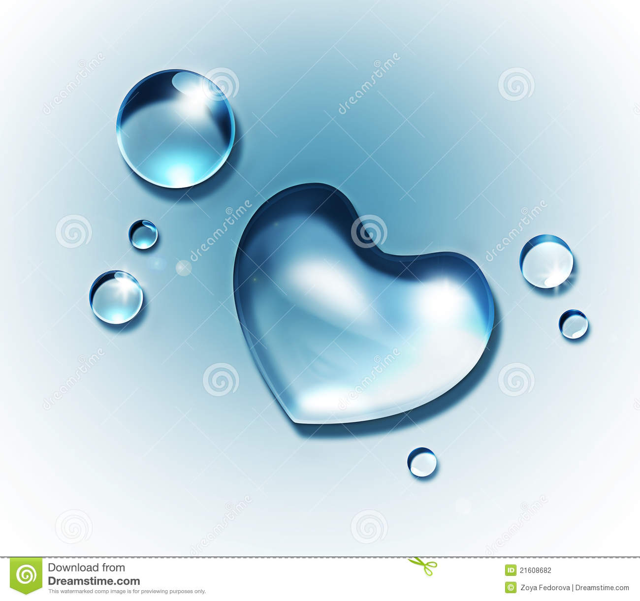 water heart stock photography image 21608682