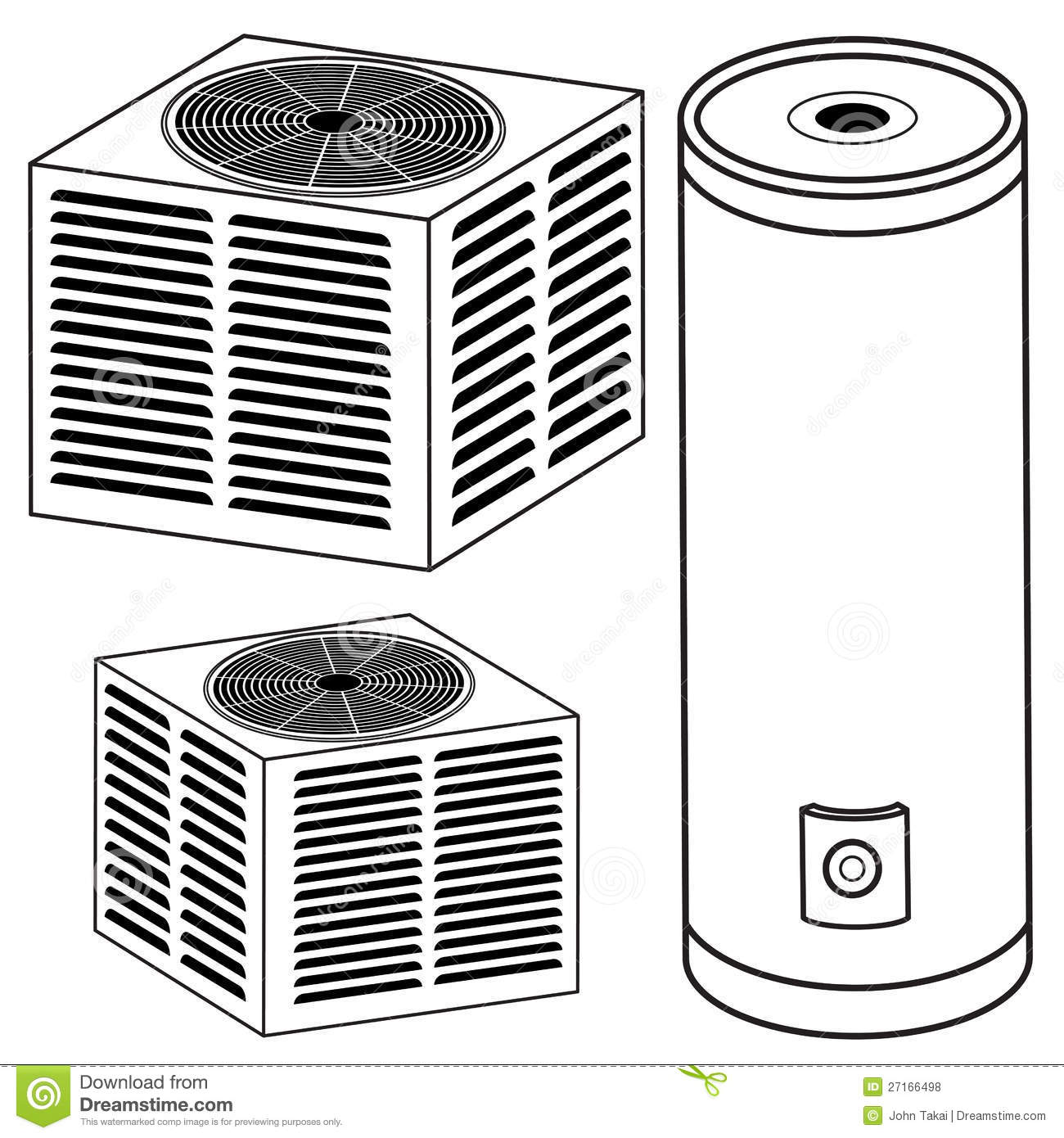 Central Air Conditioner Clipart - Viewing Gallery