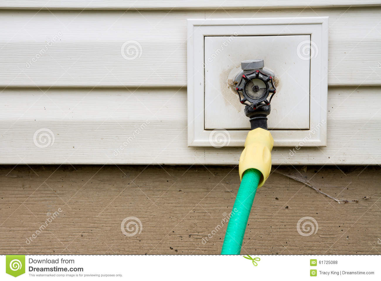 Outside water spigot stock photo. Image of household, brown - 8387674