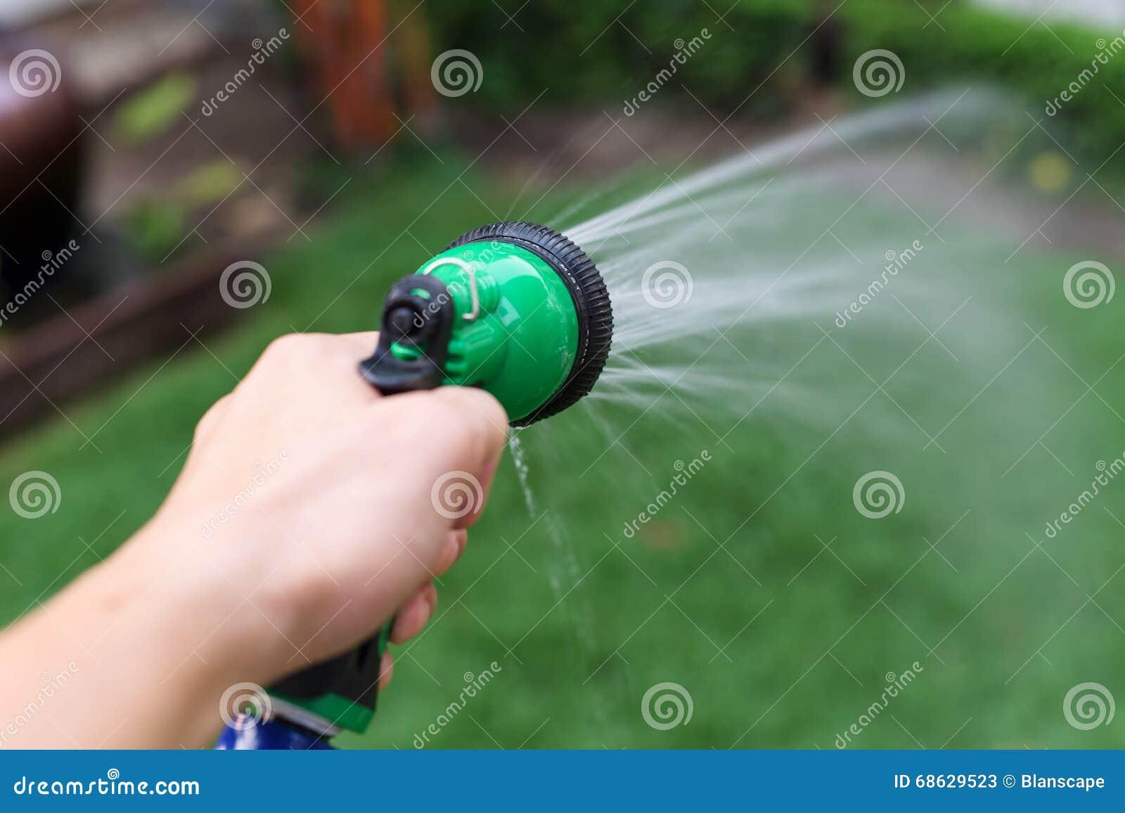 water hose or spray