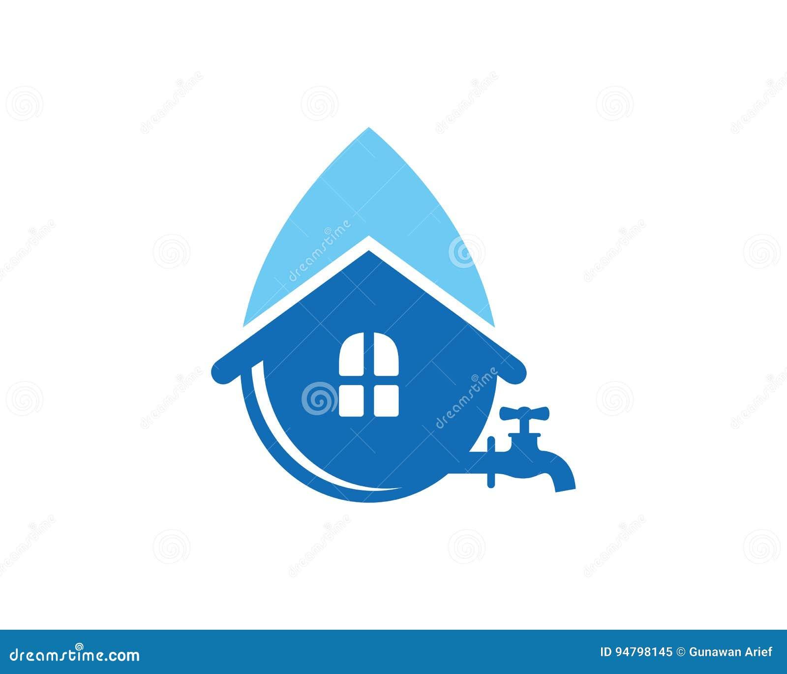 Water house logo template design vector emblem design for House logo design free