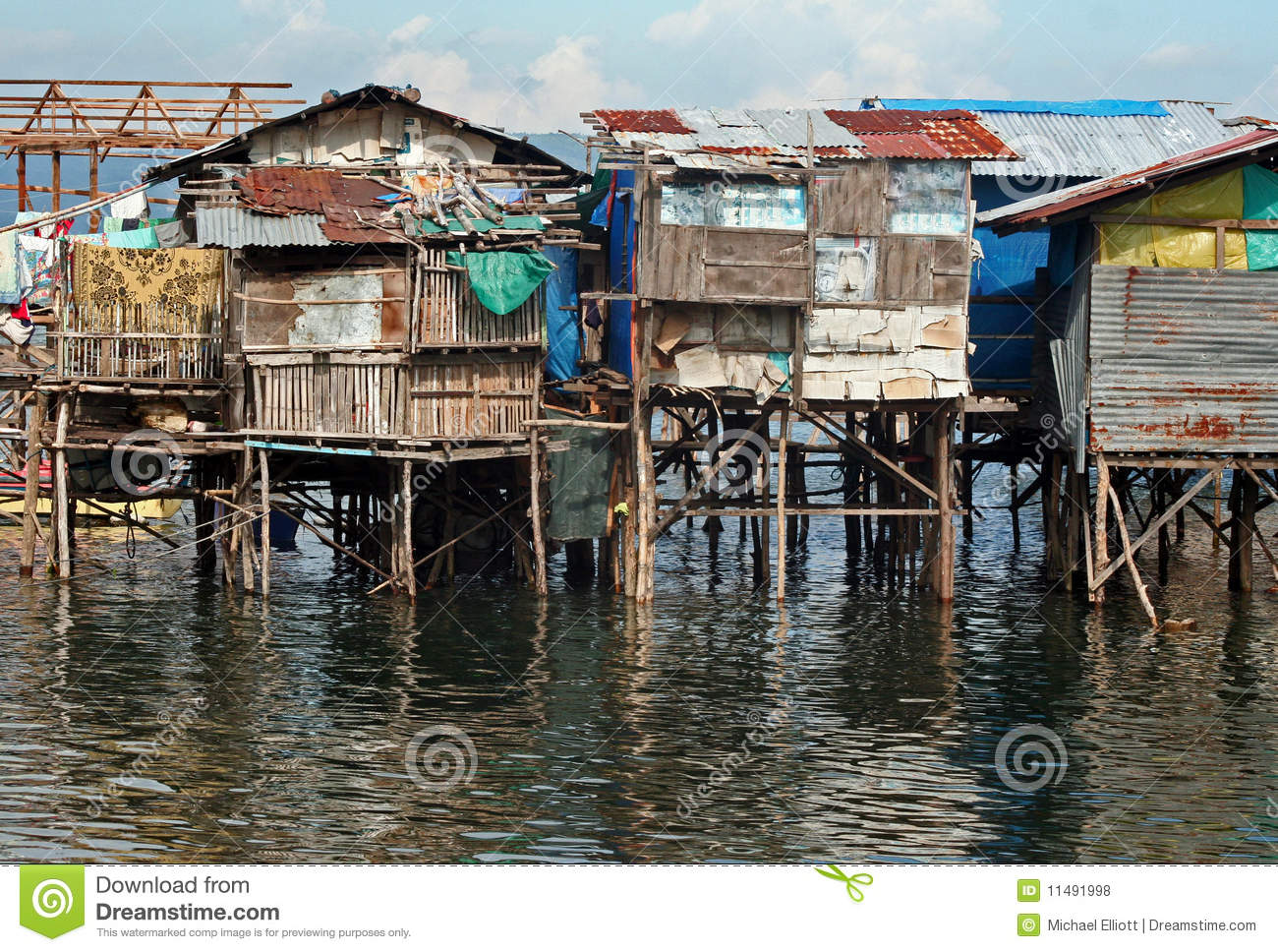 Water Houses Royalty Free Stock Photos