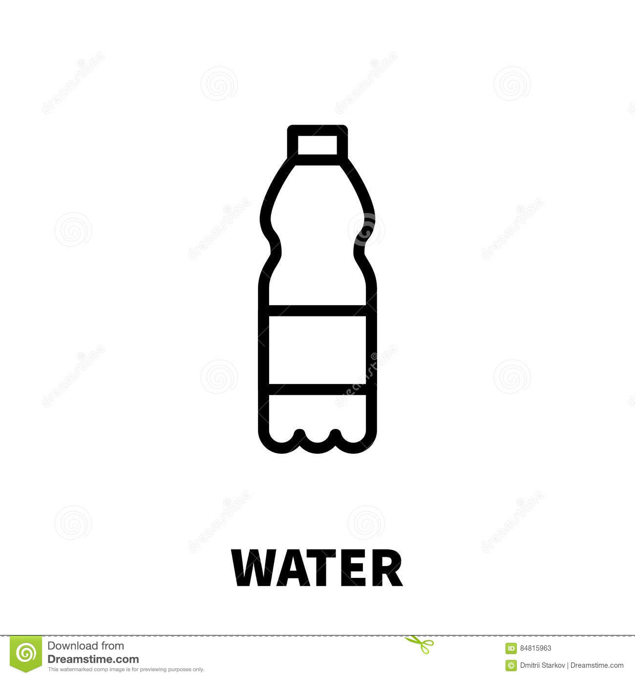 water tap icon in outline style cartoon vector
