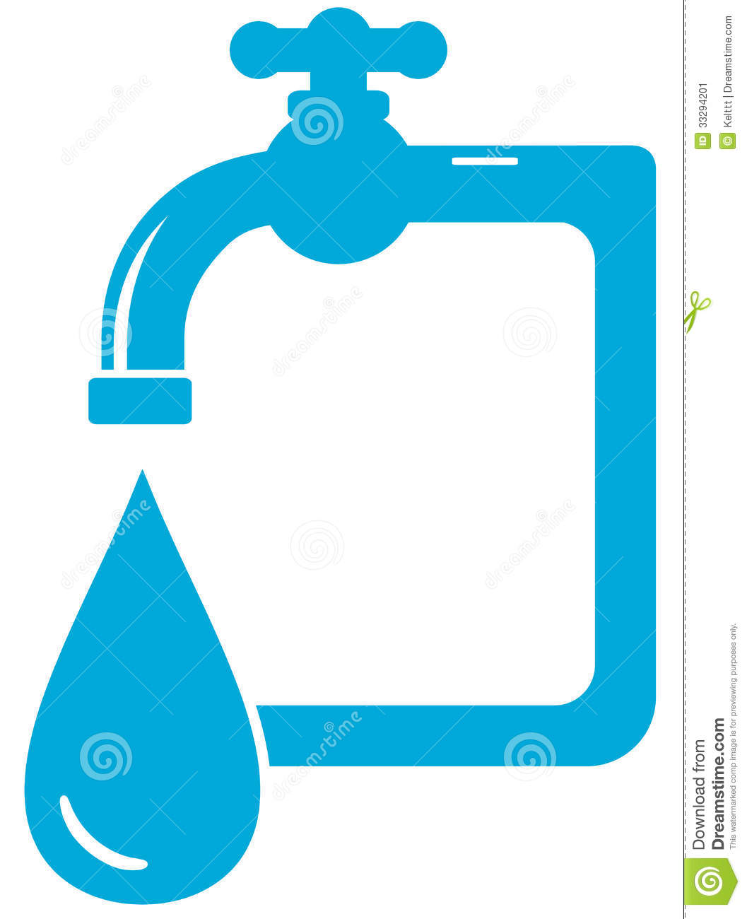 Stock Image Water Icon Tap Faucet Drop Blue Isolated Image33294201 on plumbing service logos