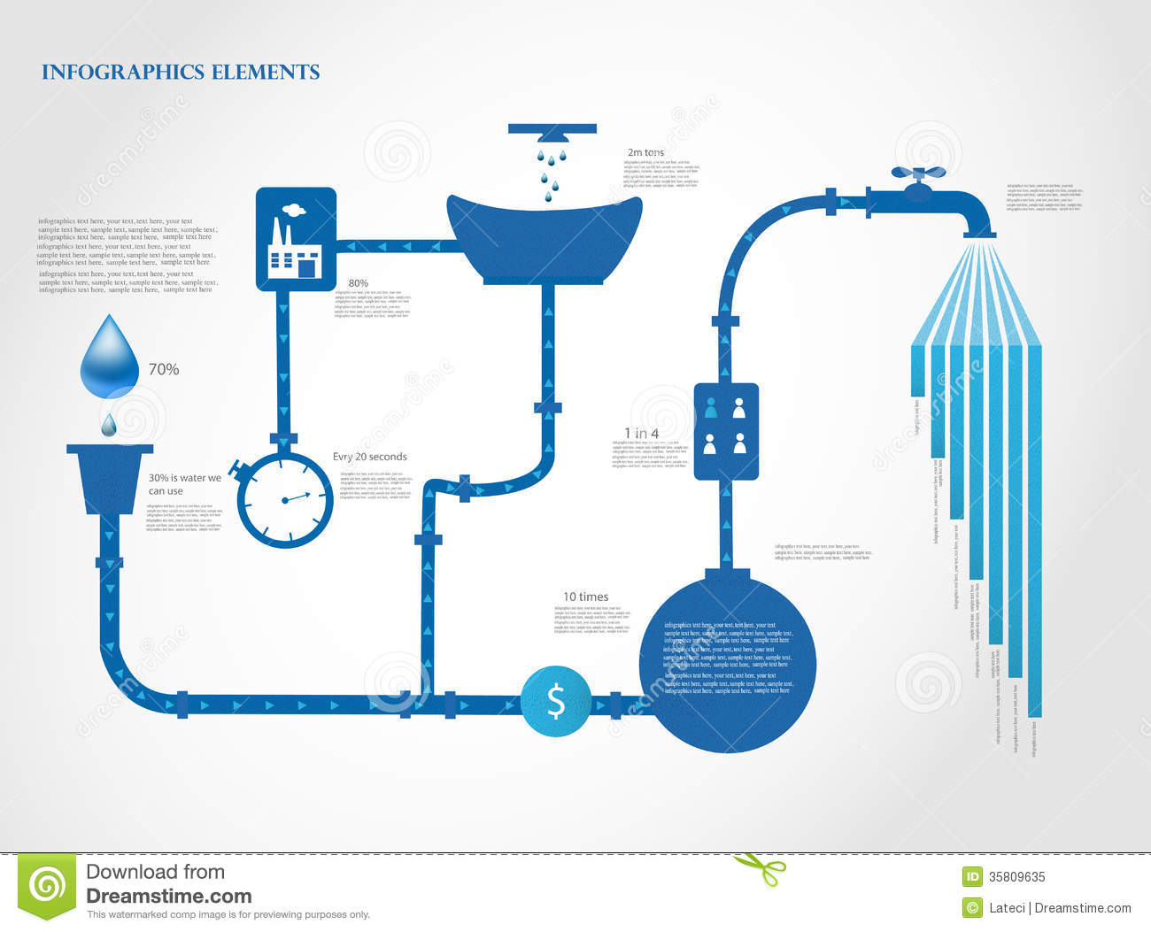 Water Infographics Stock Vector Image Of Ecology Design