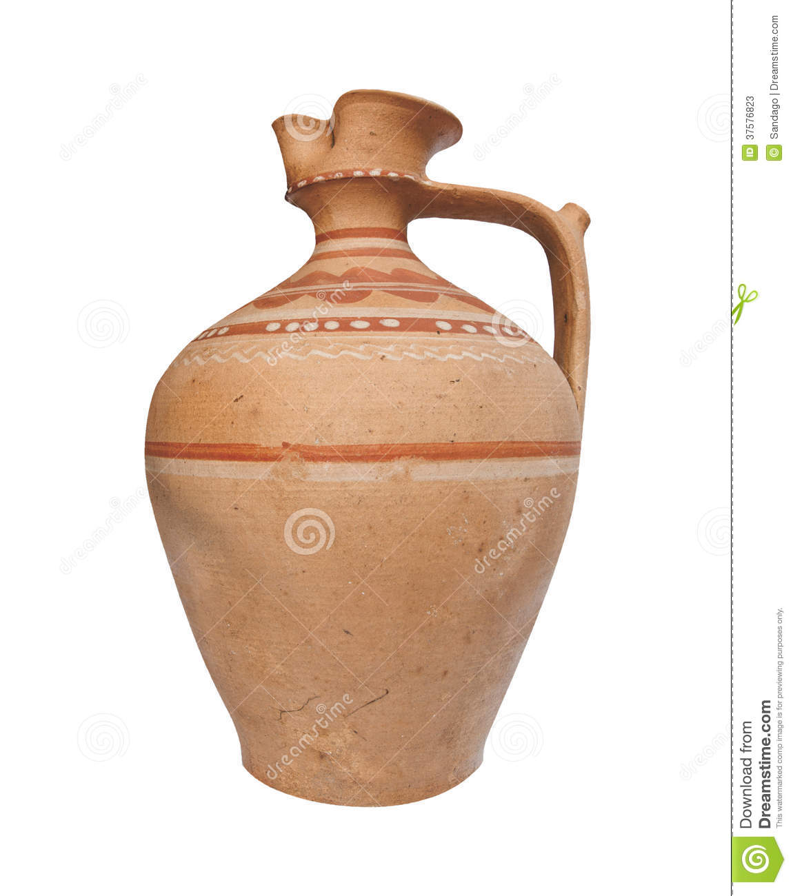 Water jug stock image  Image of romanian, clay, outline