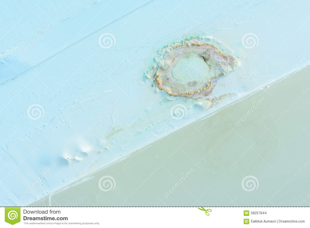 Water Leak In Bathroom Ceiling Stock Photo - Image of wall, mould ...