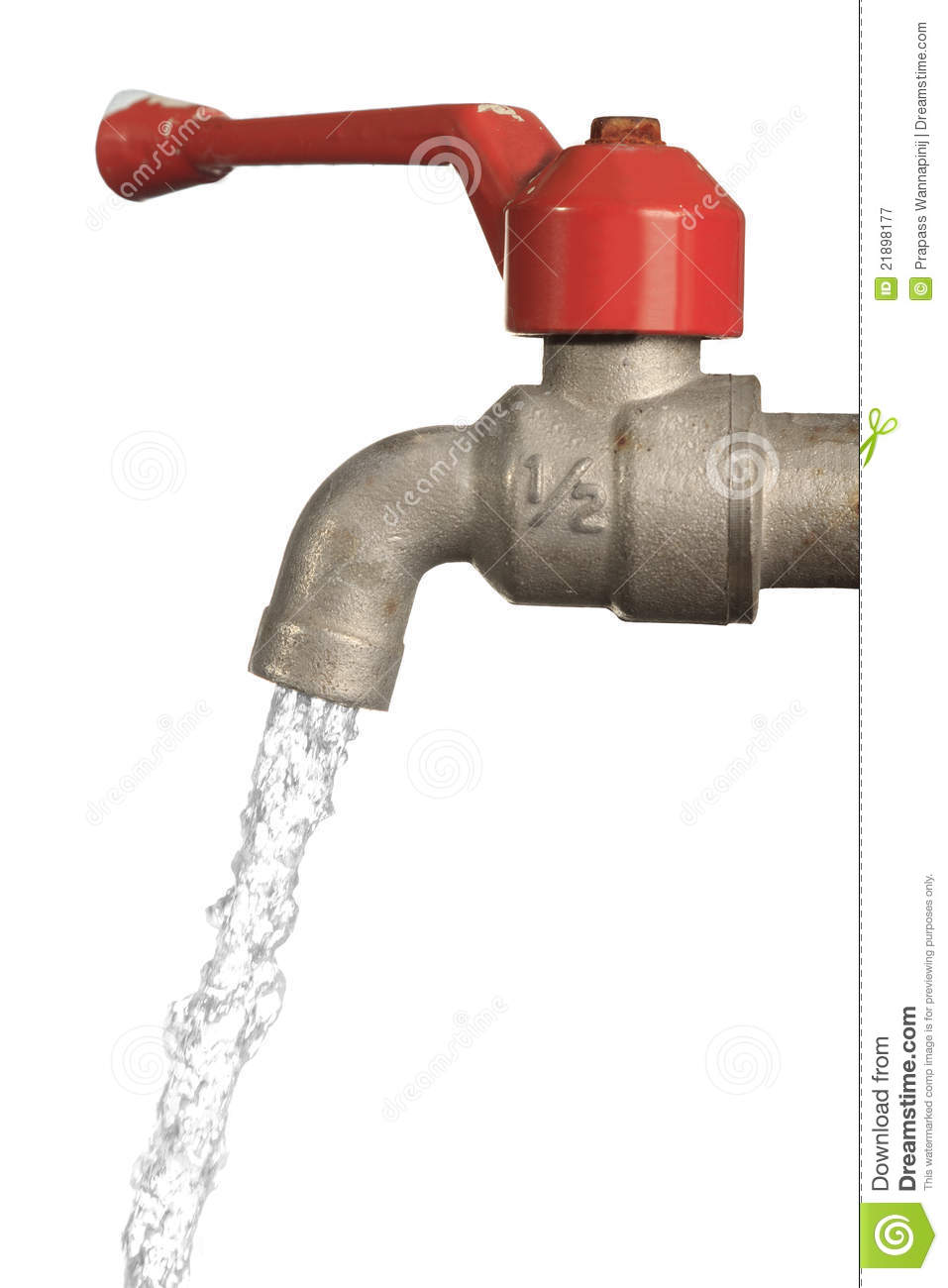 Water Leaking From Old Metal Tap Stock Image Image 21898177