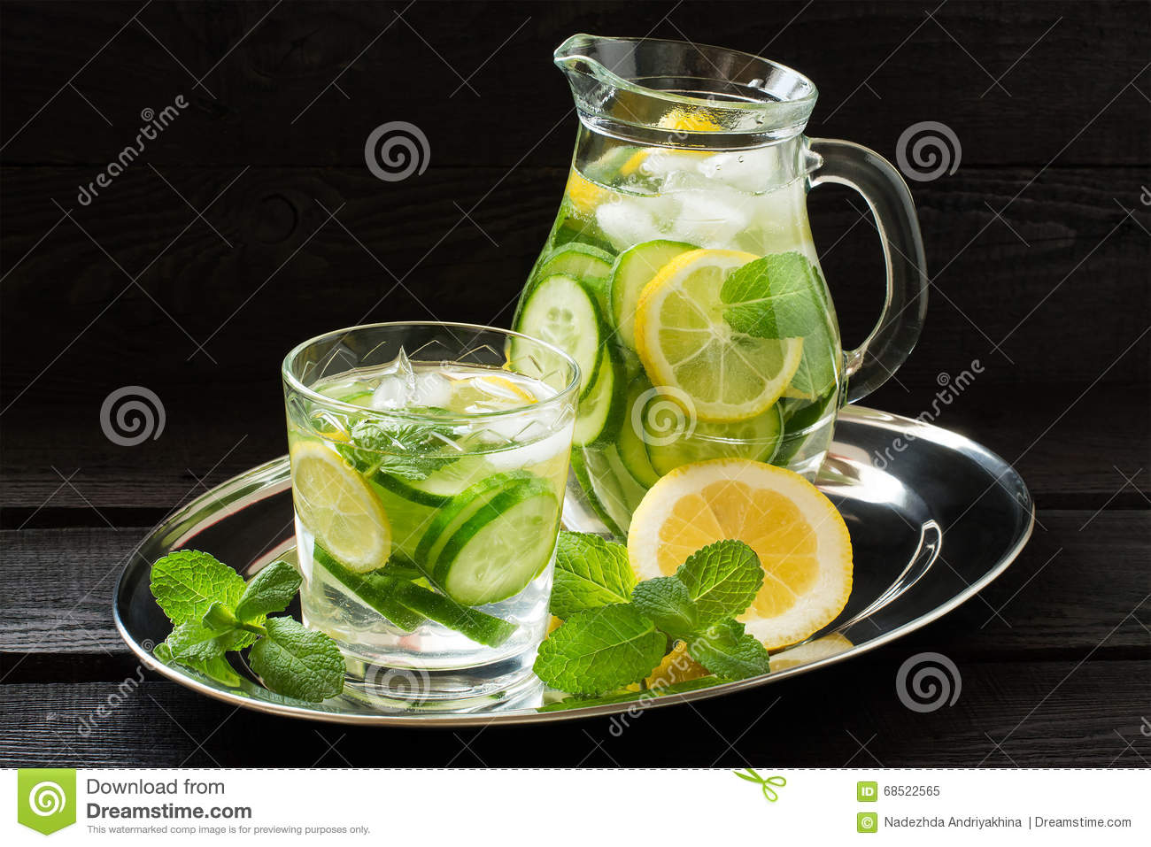 """81 thoughts on """" Lemon Mint Cucumber Water (aka Detox Water) """" Ani D May 26, at We just made a batch of cucumber/mint water!! Next time I will be sure to add lemons."""