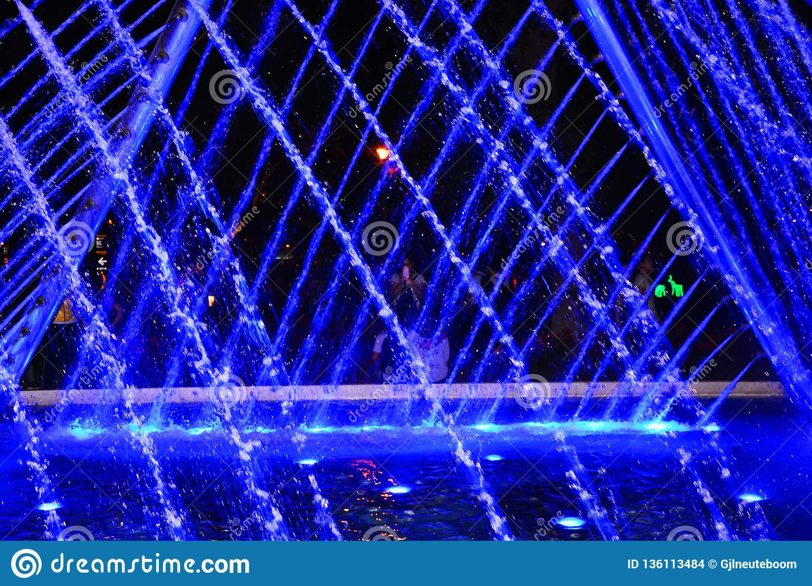 Water Light Show In Lima City Stock Photo Image Of Watershow