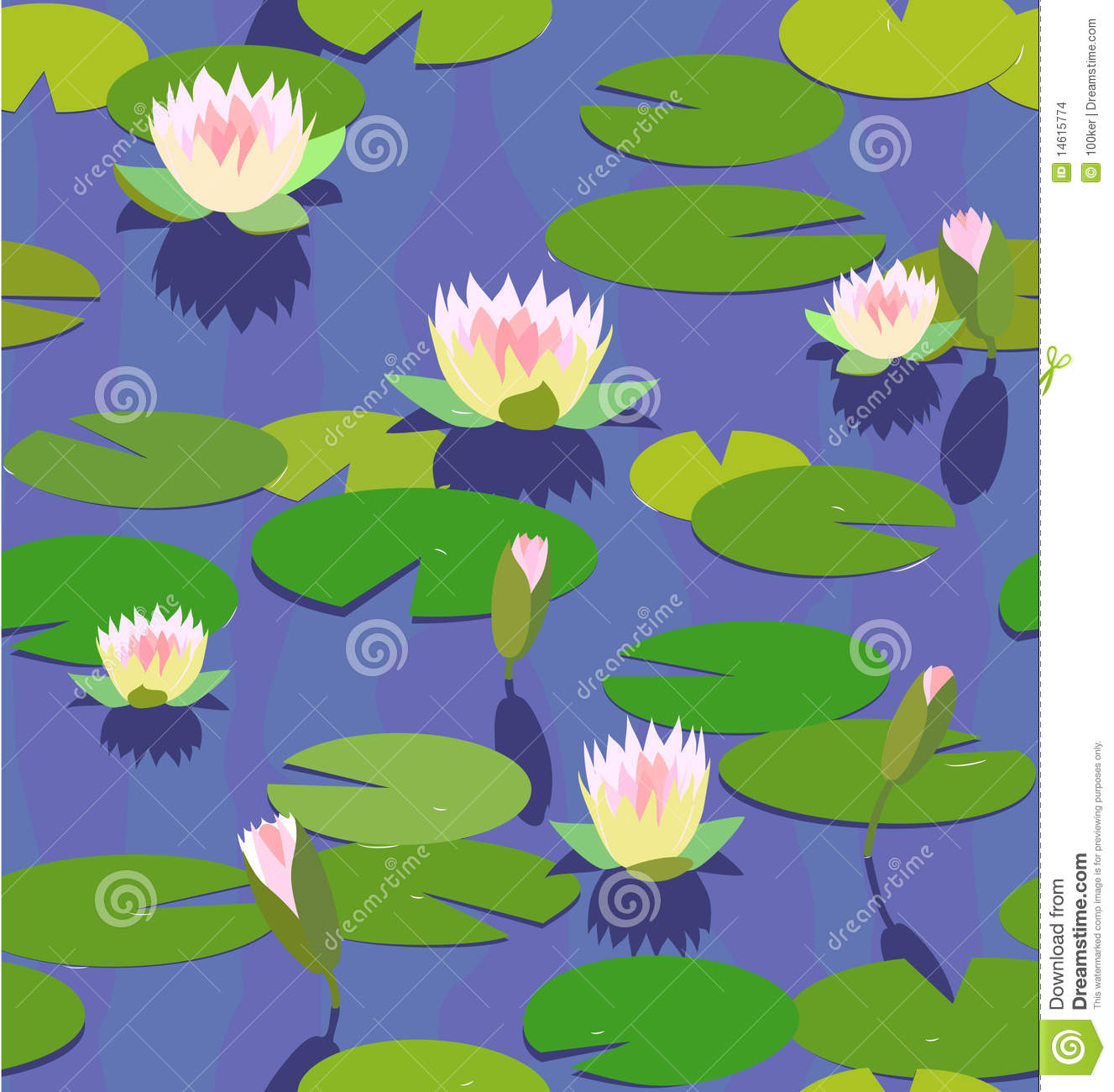 Water Lily In Pond Stock Images Image 14615774